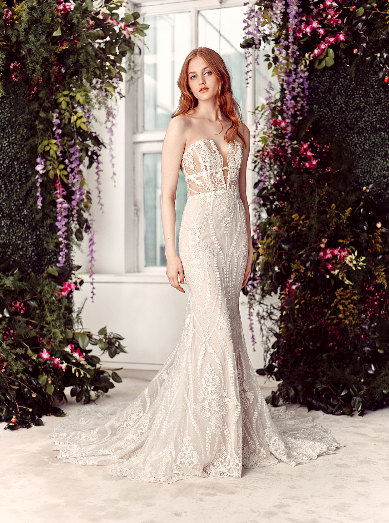 alyne by rita vinieris strapless embroidered trumpet wedding dress spring 2020