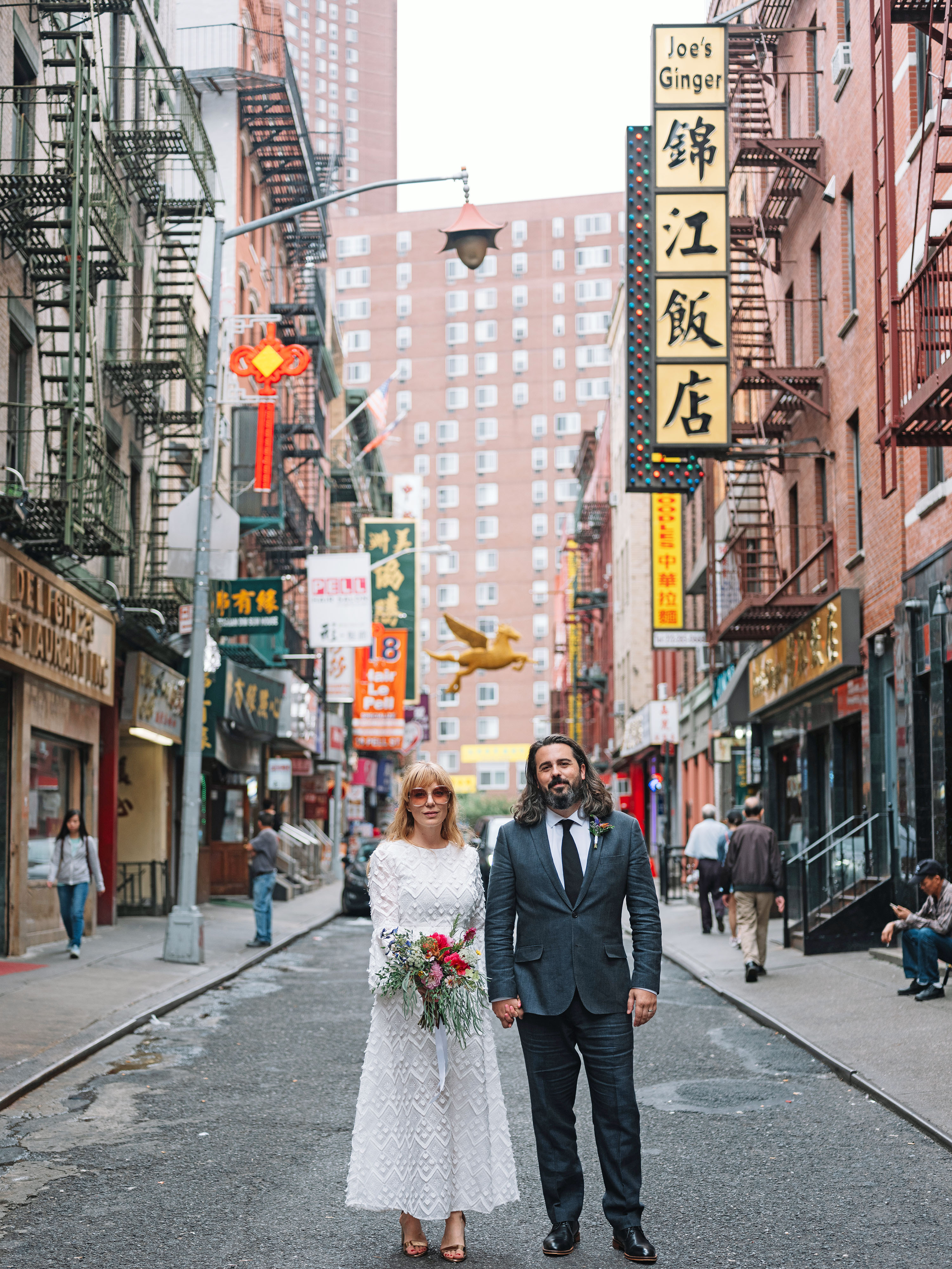 This Couple's Intimate City Hall Wedding Was  Very New York