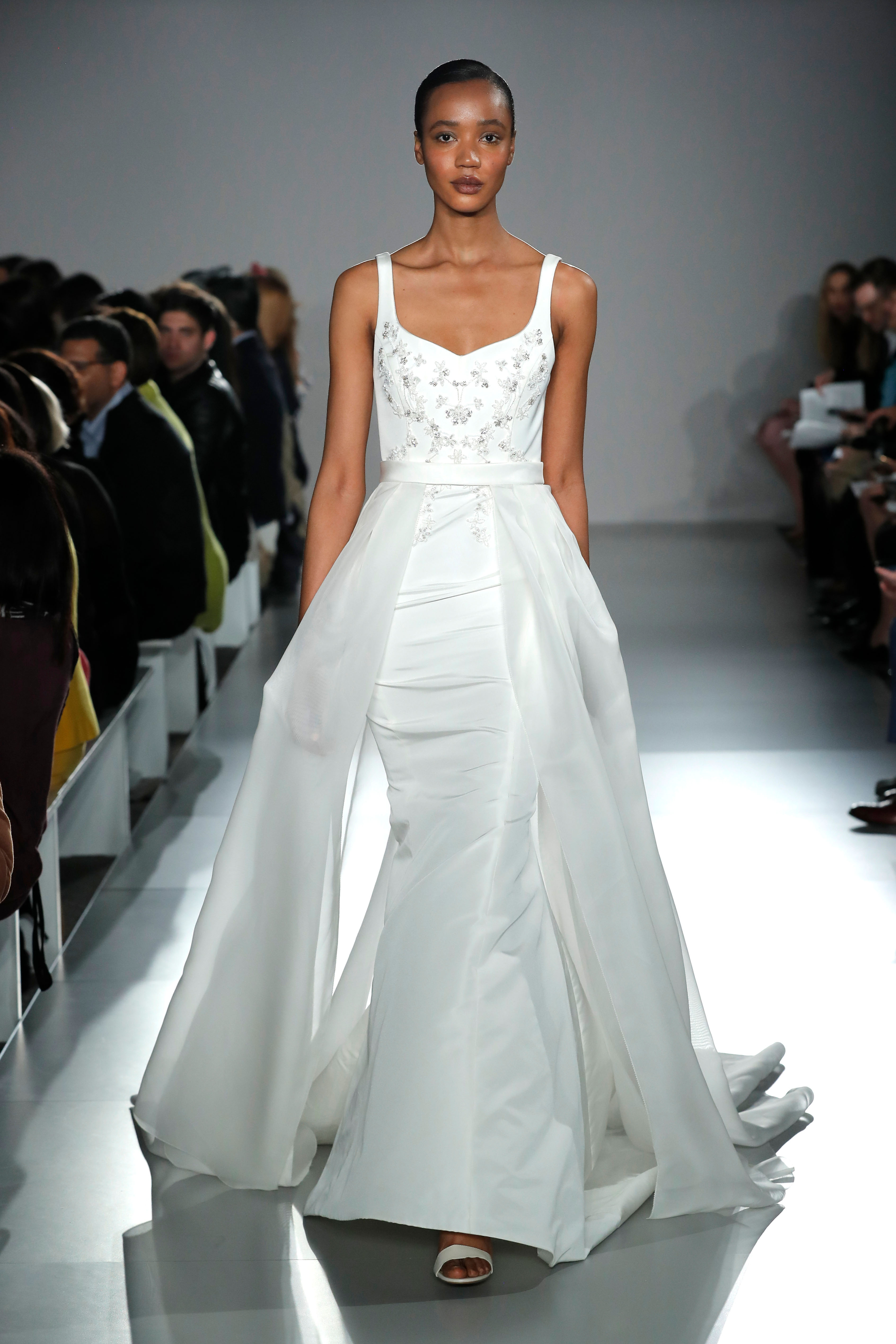 semi sweetheart beaded mermaid wedding dress Amsale Spring 2020