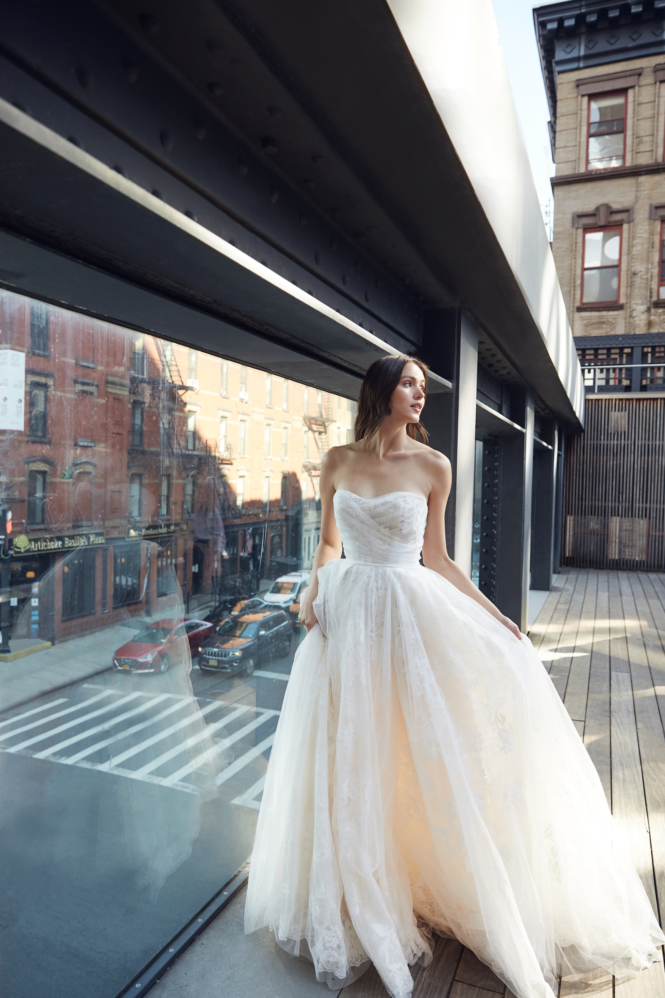 monique lhuillier bliss strapless sweetheart ball gown wedding dress spring 2020