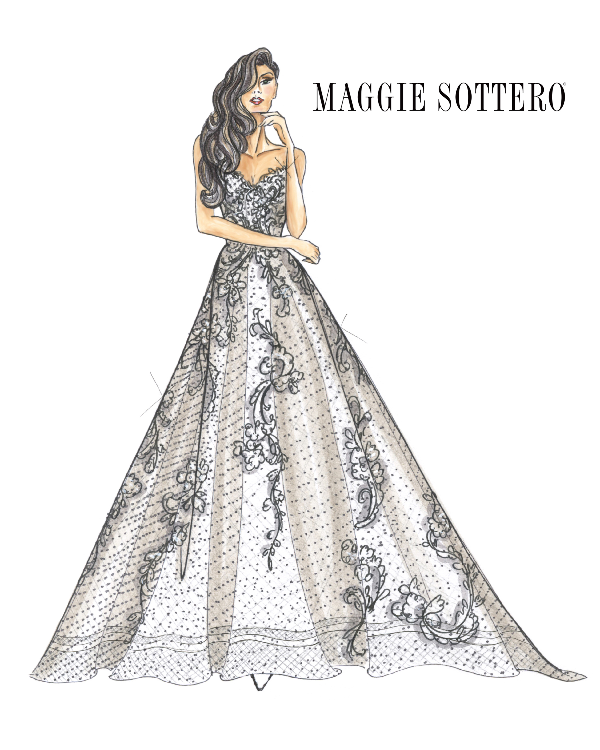 strapless sweetheart neckline a-line Maggie Sottero Spring 2020