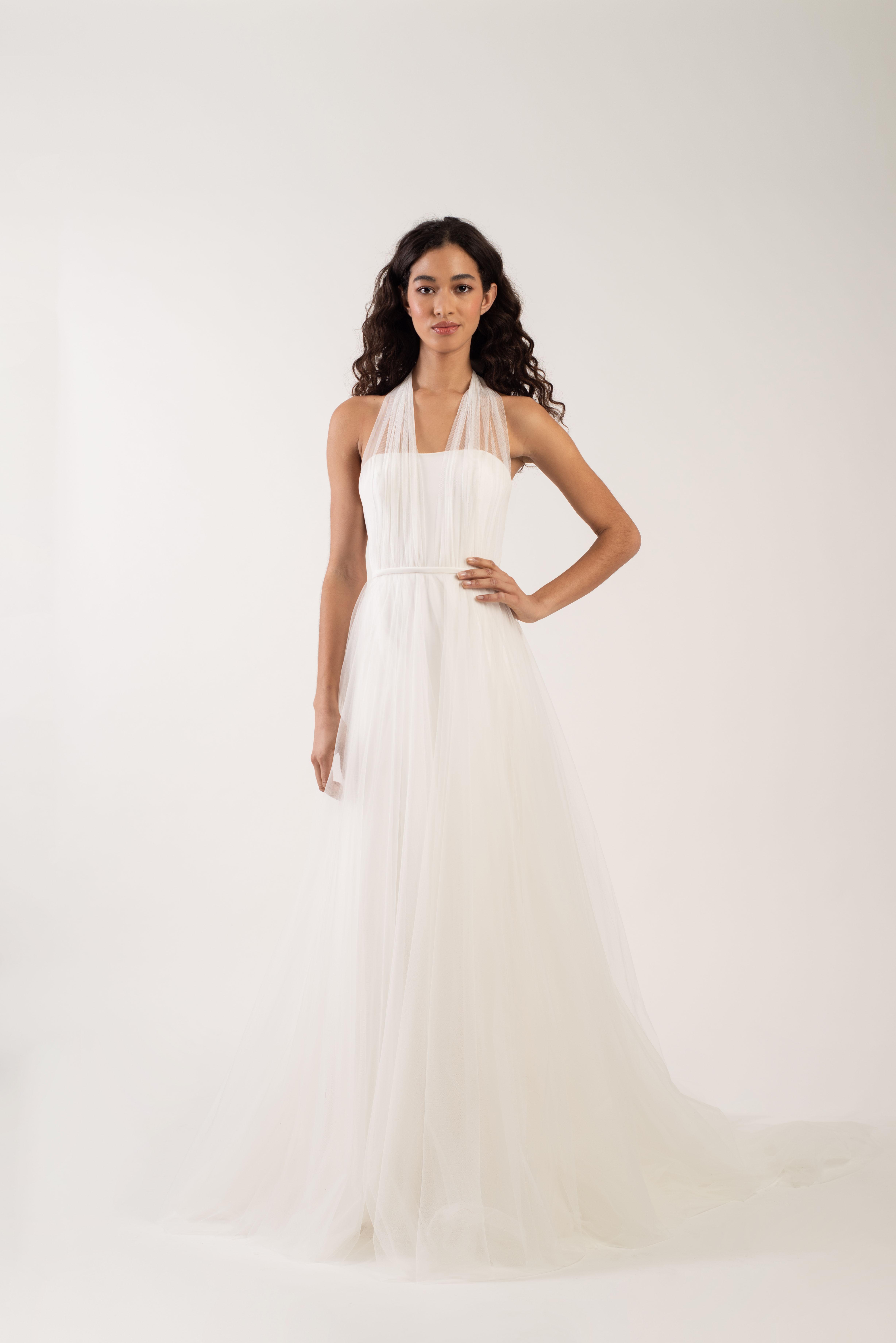 tulle halter strap tulle skirt a-line wedding dress Jenny by Jenny Yoo Spring 2020