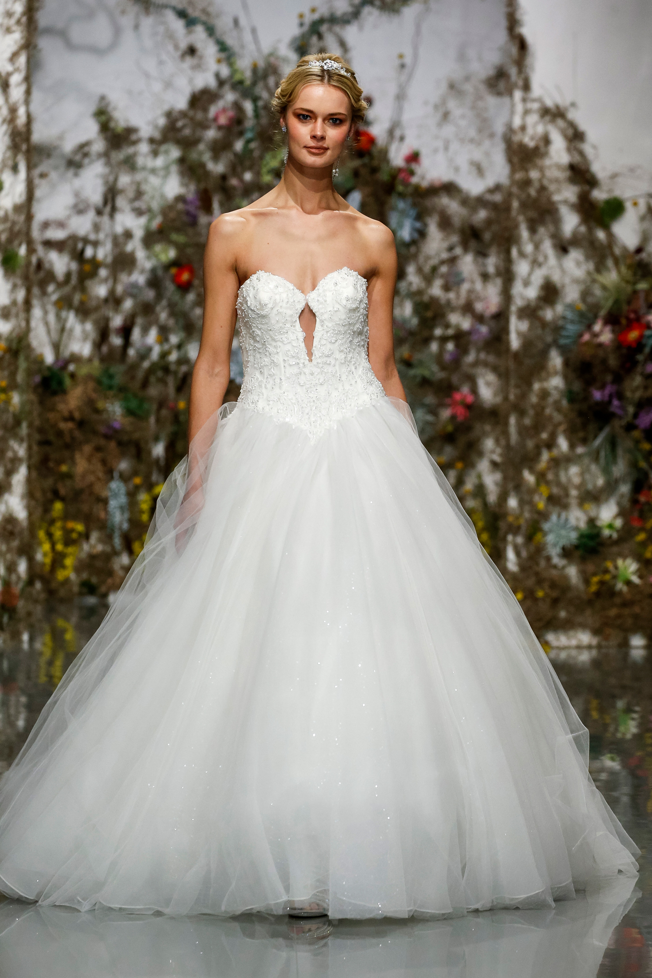 keyhole corset sweetheart bodice tulle skirt ball gown Morilee by Madeline Gardner Spring 2020