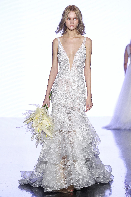 watters v-neck trumpet wedding dress spring 2020