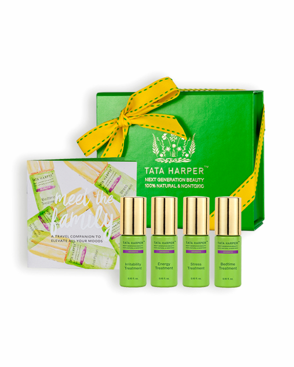 natural fragrance tata harper skincare aromatic treatments in a green box