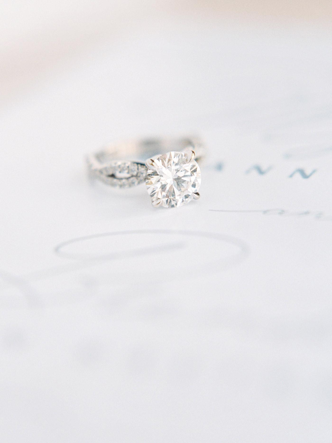 mykaela and brendon wedding platinum and diamond ring