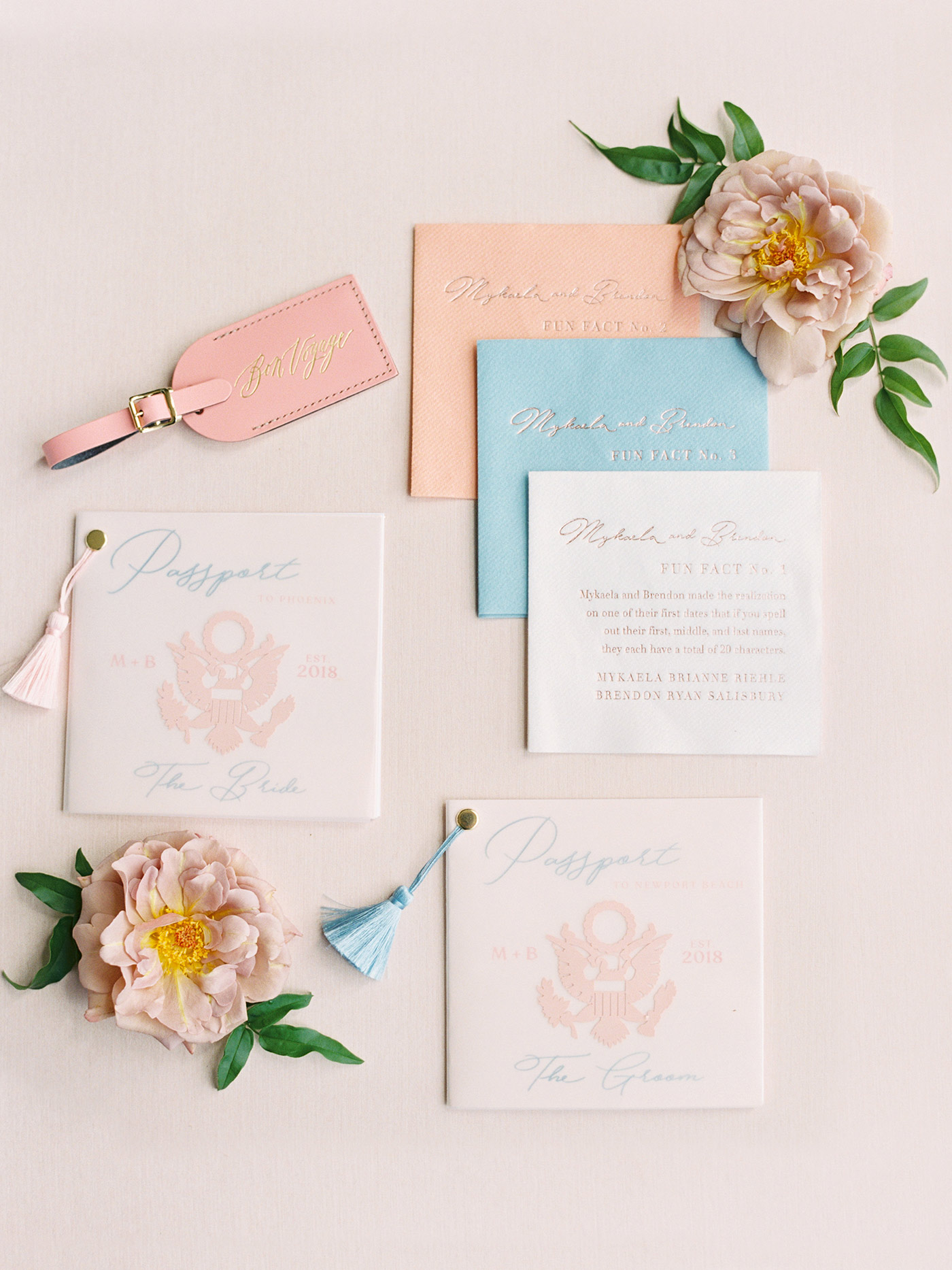 mykaela and brendon wedding passport themed dinner menu