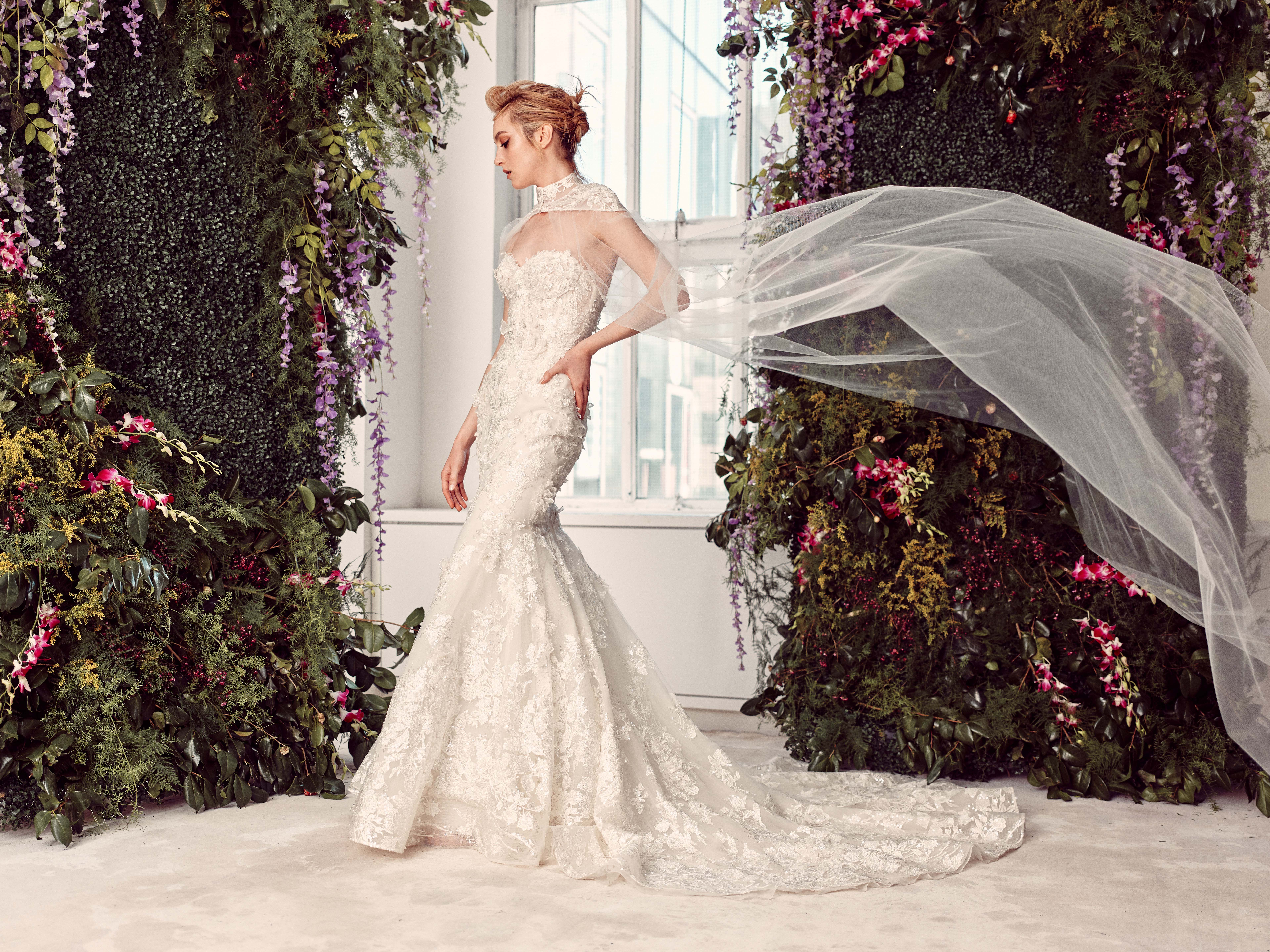 sleeveless high neck lace mermaid wedding dress Rivini by Rita Vinieris Spring 2020