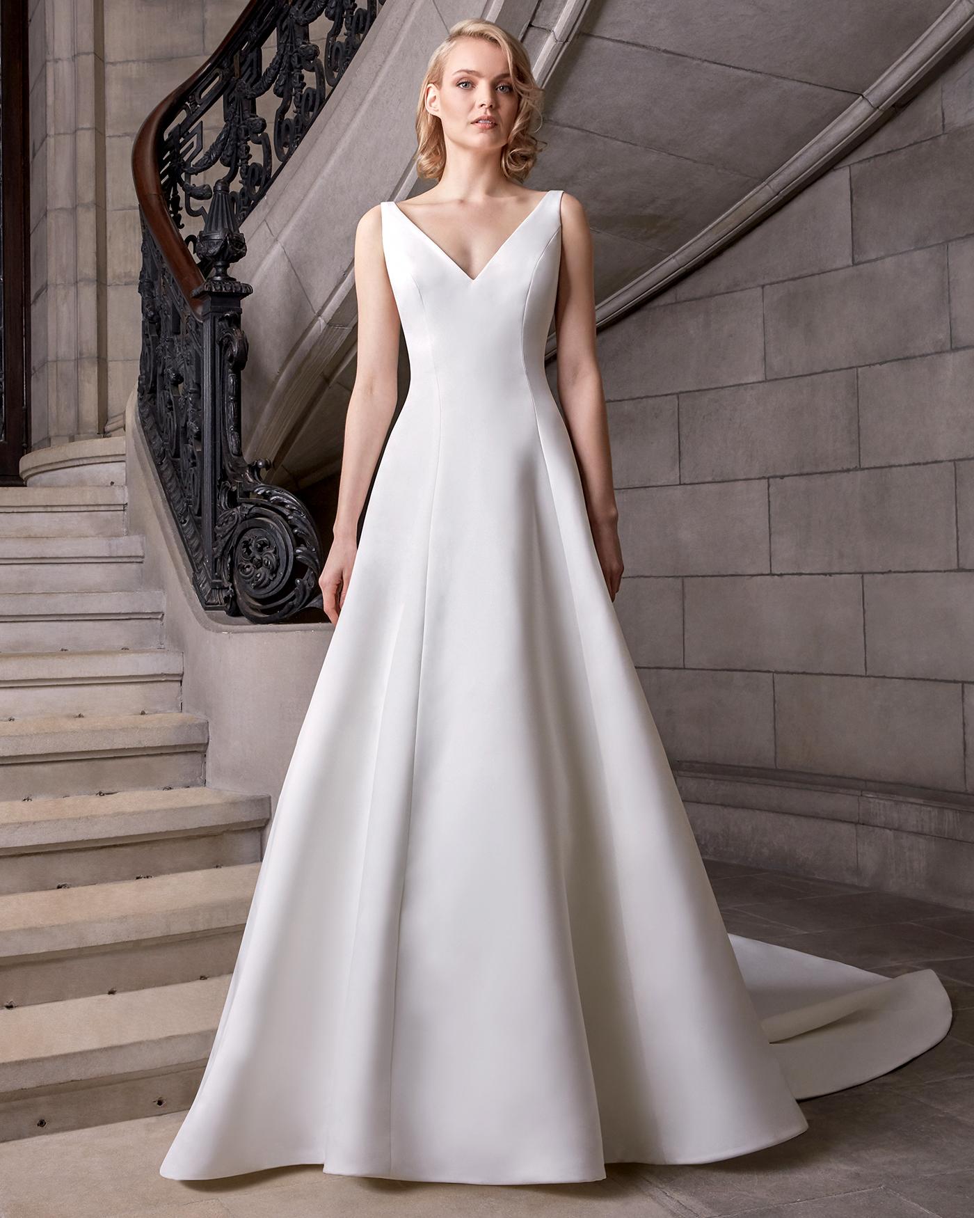 sareh nouri v-neck a-line wedding dress spring 2020