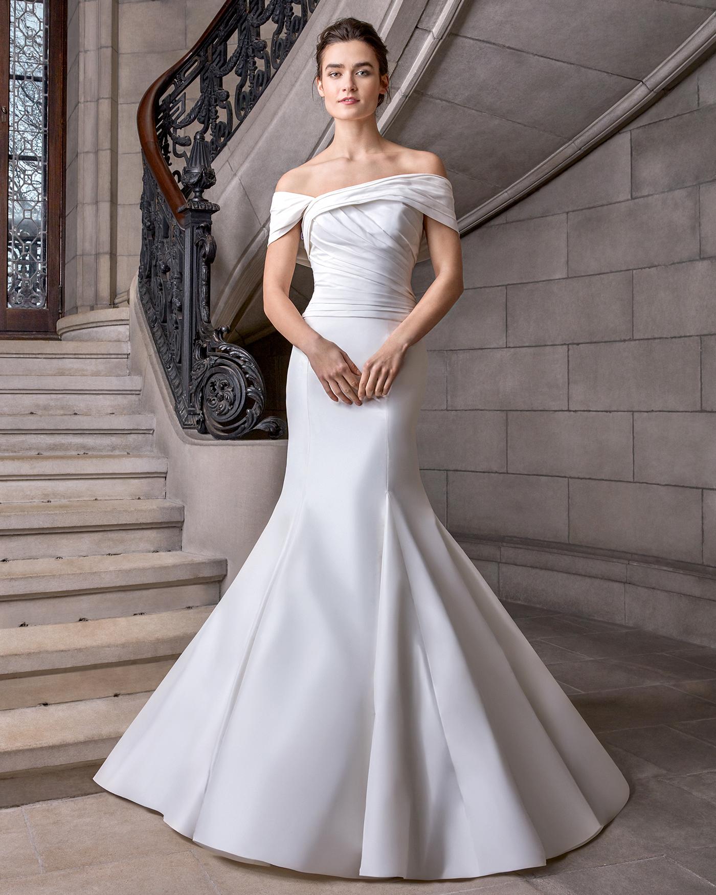 sareh nouri off the shoulder a-line wedding dress spring 2020