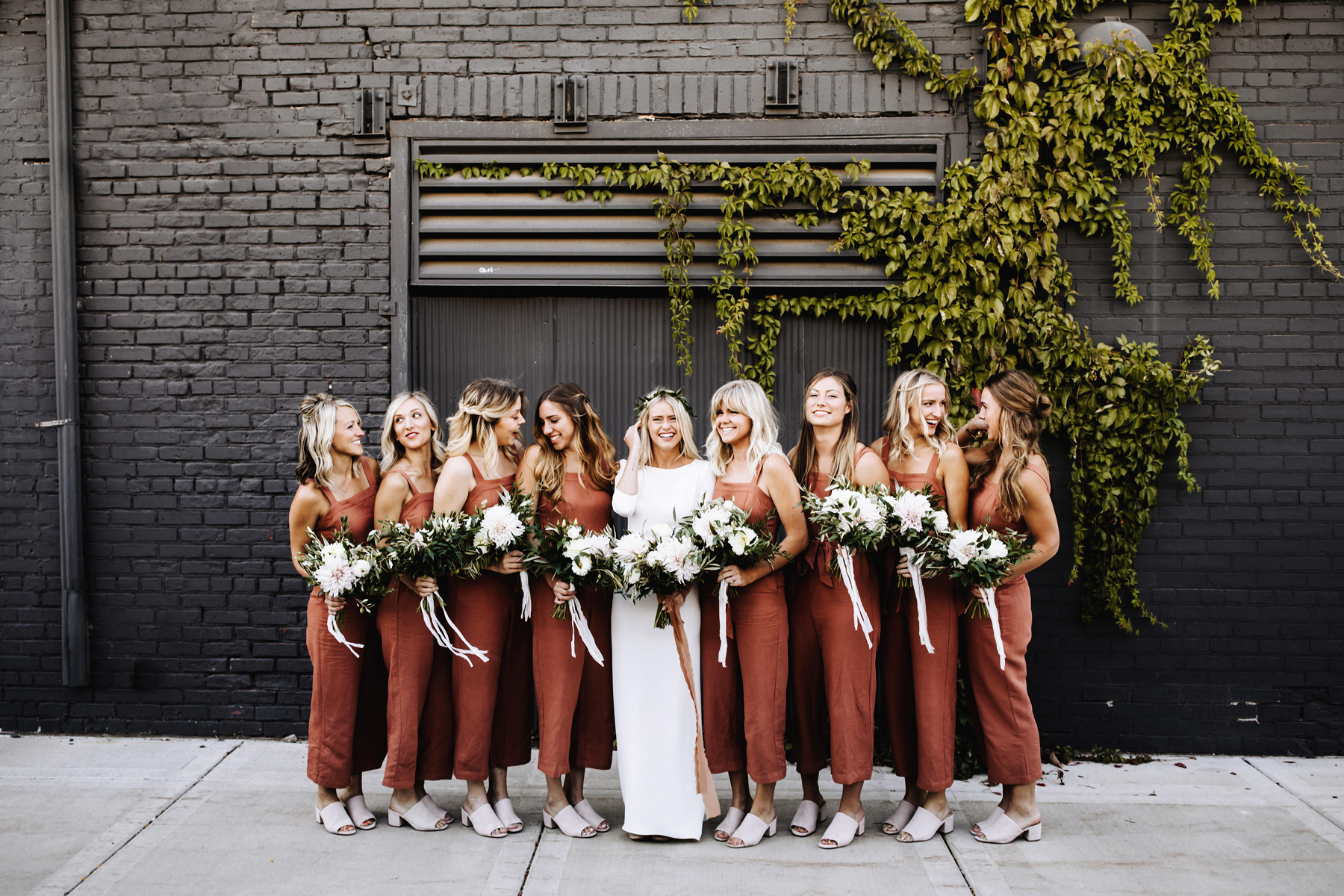 20 Wedding Parties That Prove Bridesmaids' Jumpsuits Are Just as Beautiful as Dresses