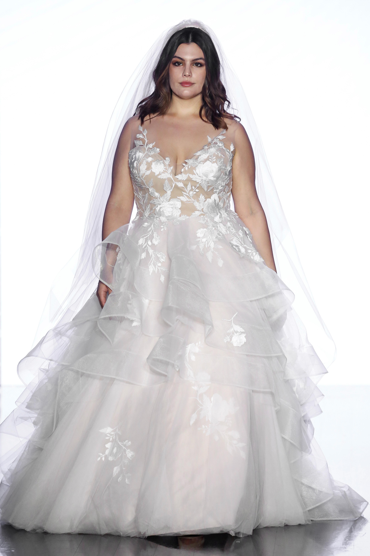 wtoo by watters sleeveless a line ruffles wedding dress spring 2020