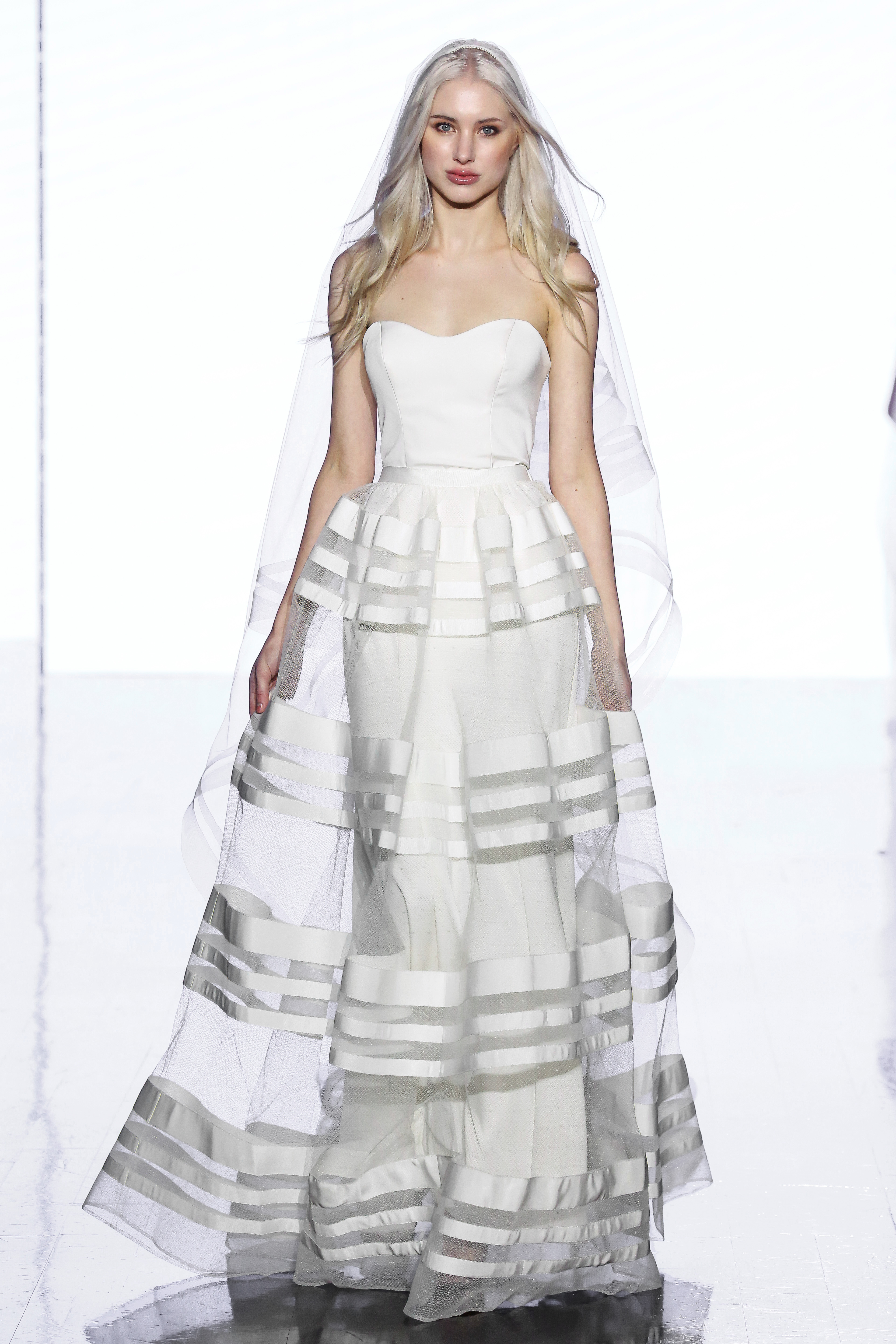 wtoo by watters strapless horizontal stripes a line wedding dress spring 2020