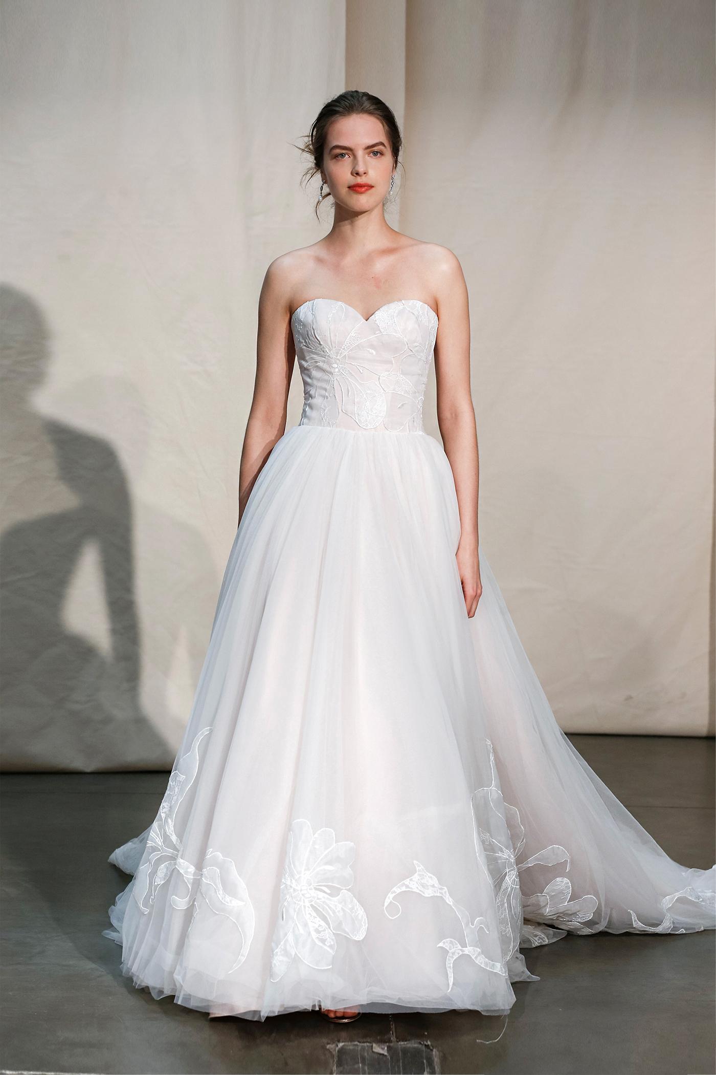 justin alexander sweetheart embroidered wedding dress spring 2020