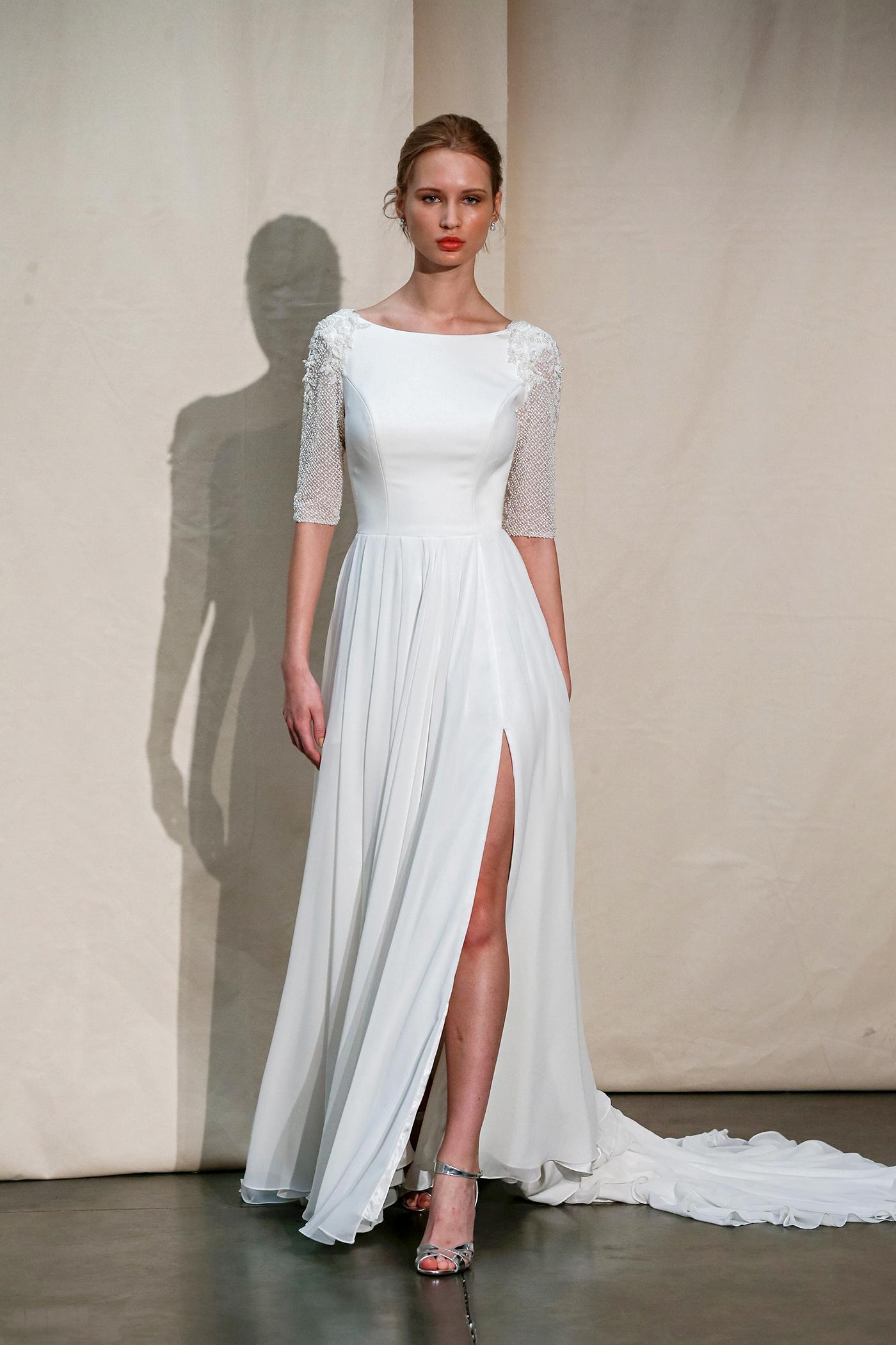 justin alexander bateau mid-sleeved wedding dress spring 2020
