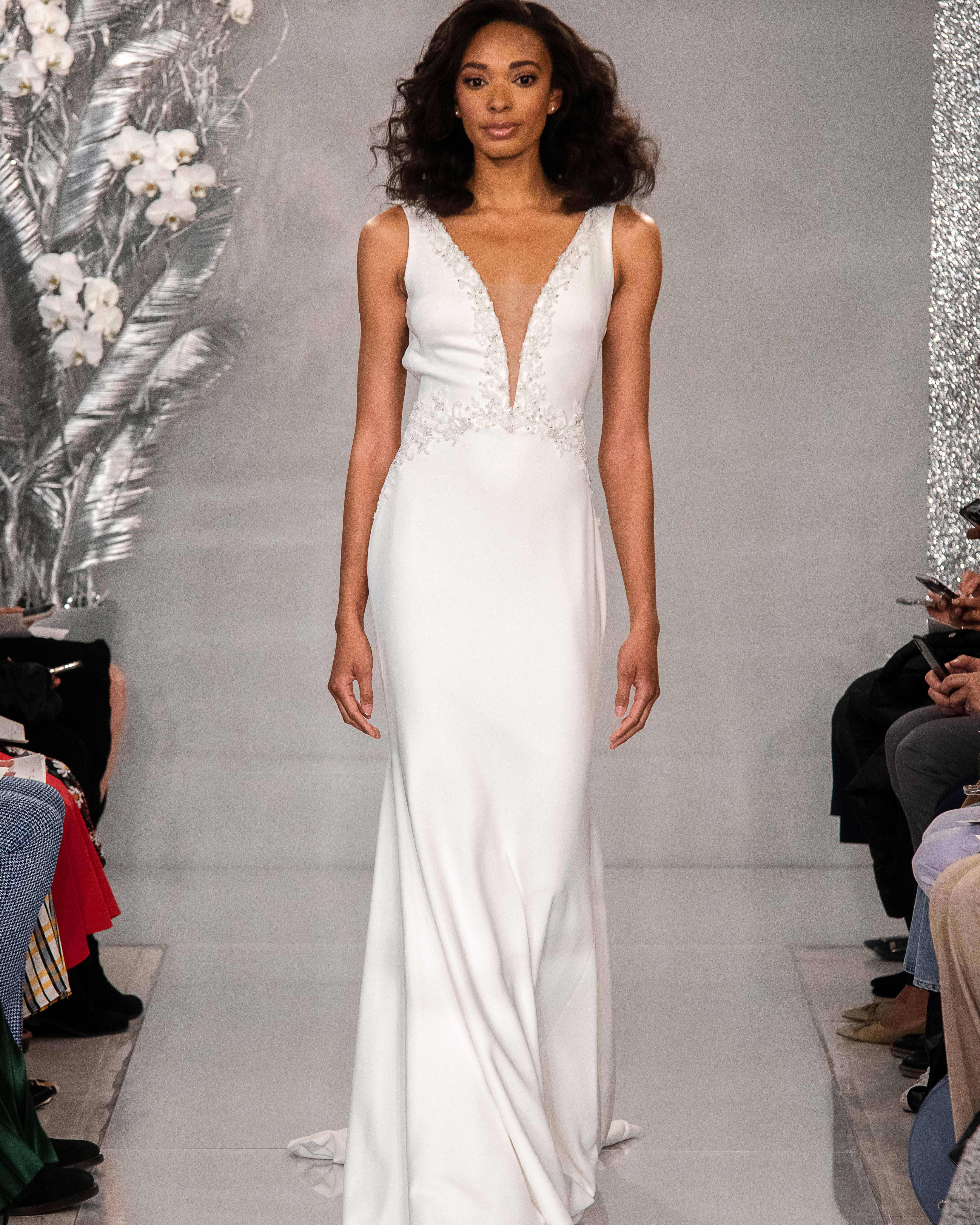 THEIA v-neck mermaid wedding dress Spring 2020