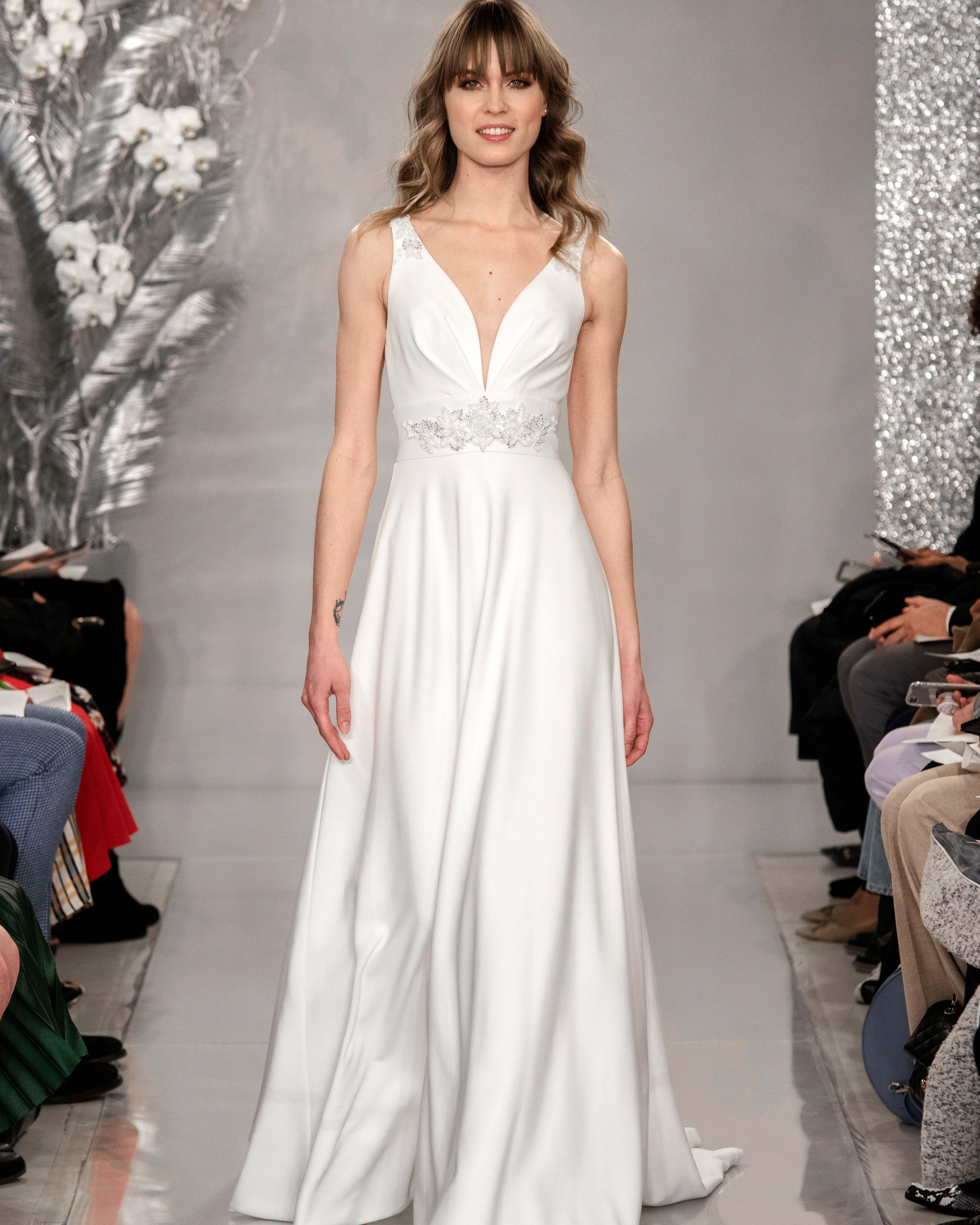 THEIA v-neck ball gown wedding dress Spring 2020