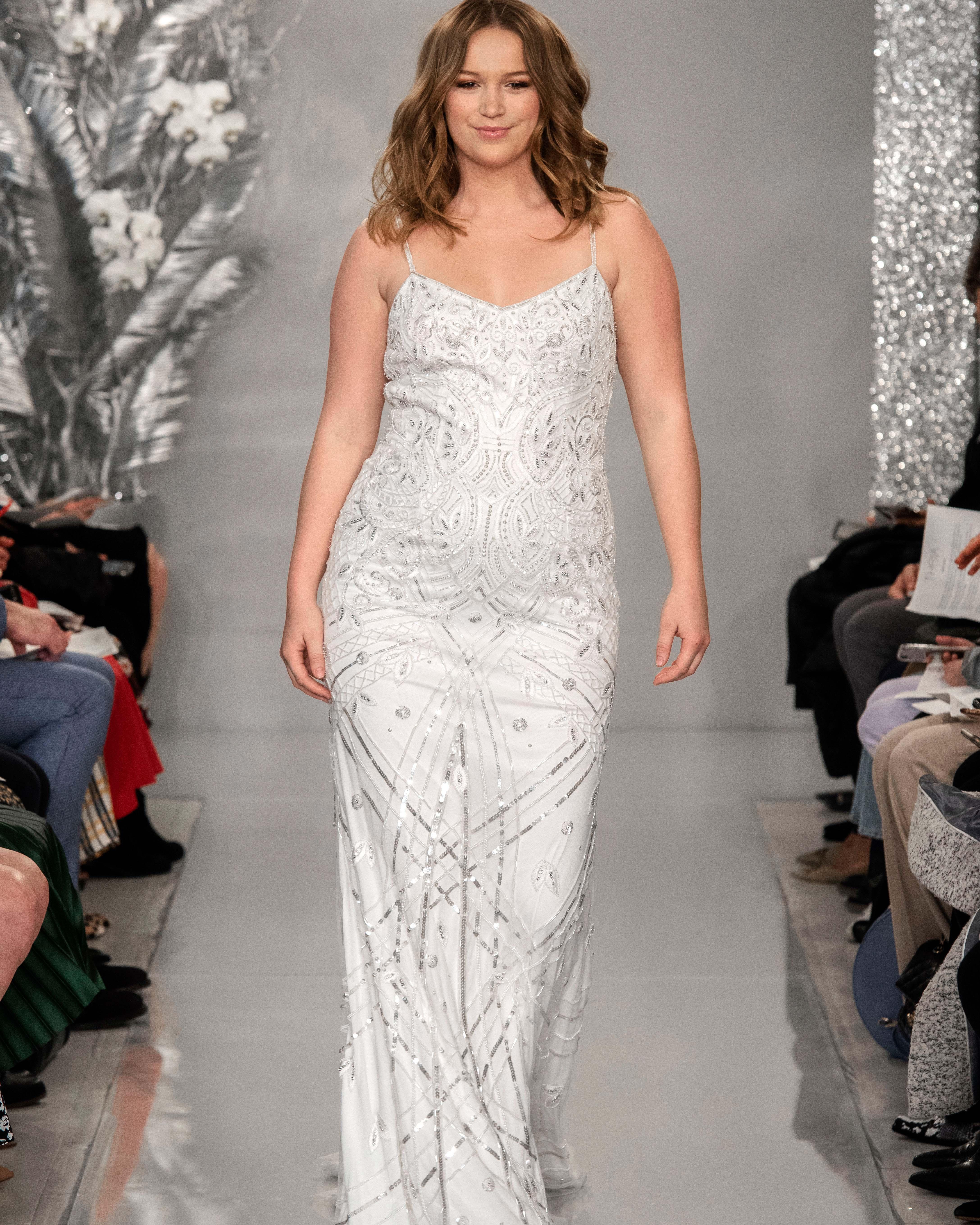THEIA slip gown beaded wedding dress Spring 2020