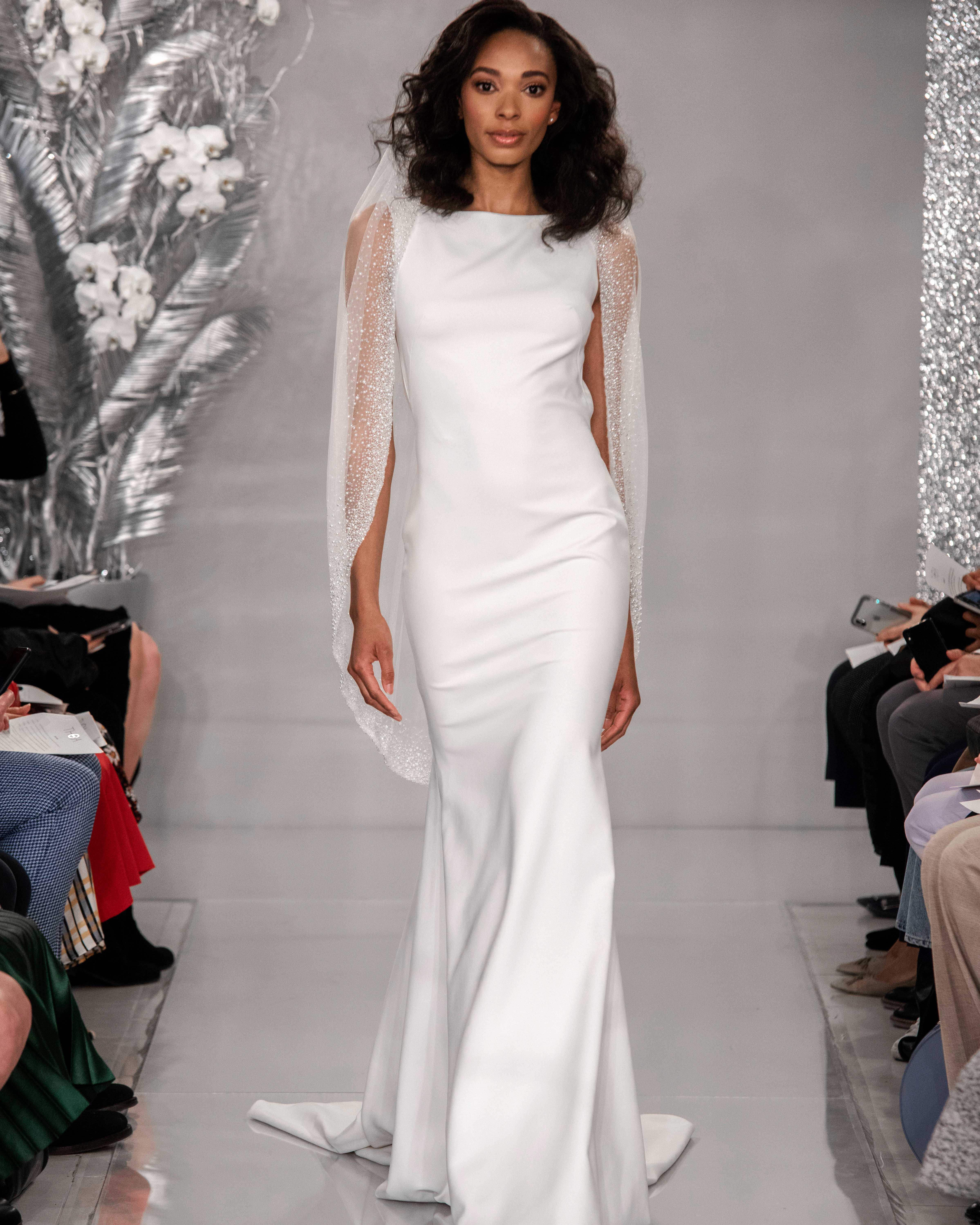 THEIA boat neck mermaid gown wedding dress Spring 2020