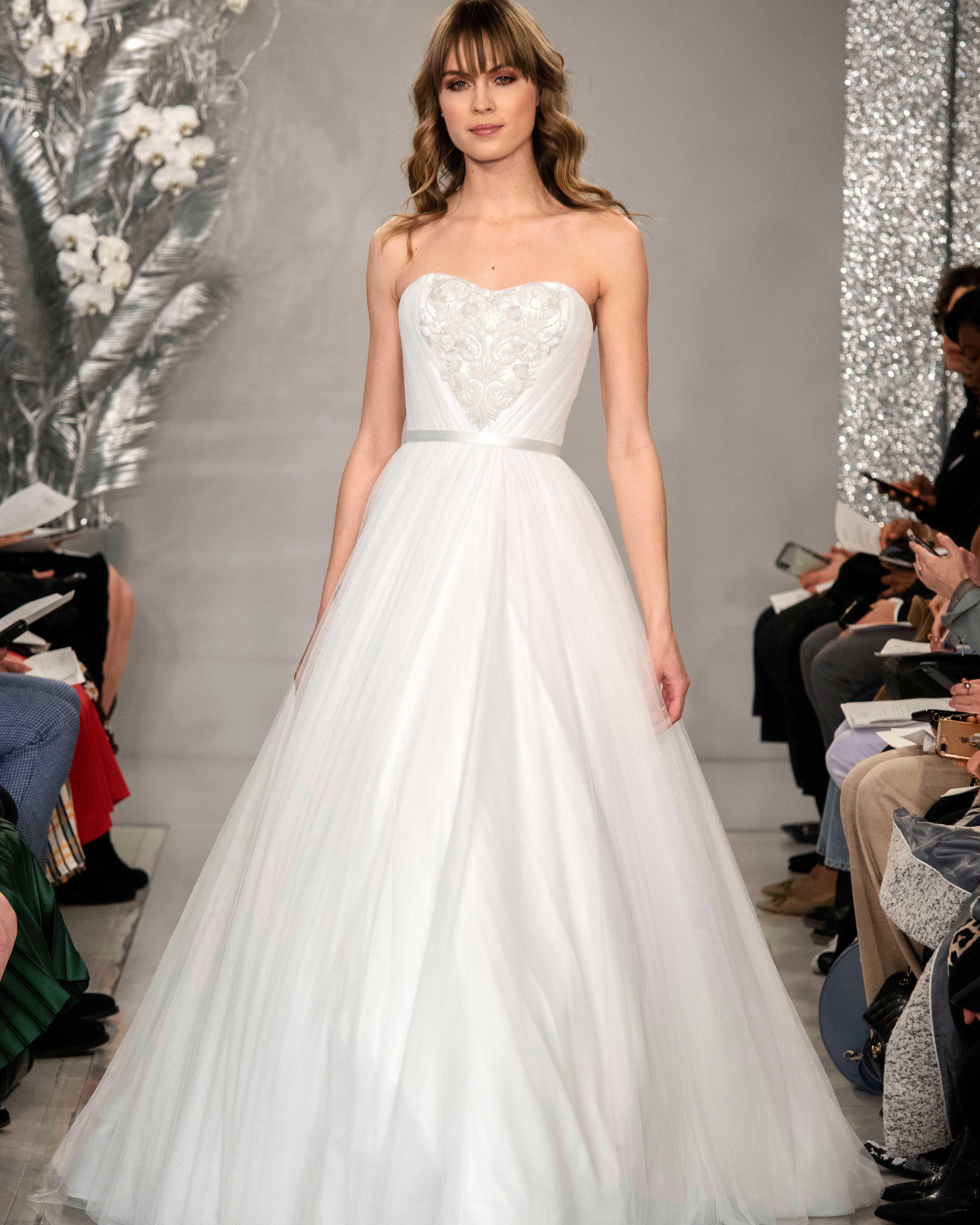 THEIA strapless tulle wedding dress Spring 2020