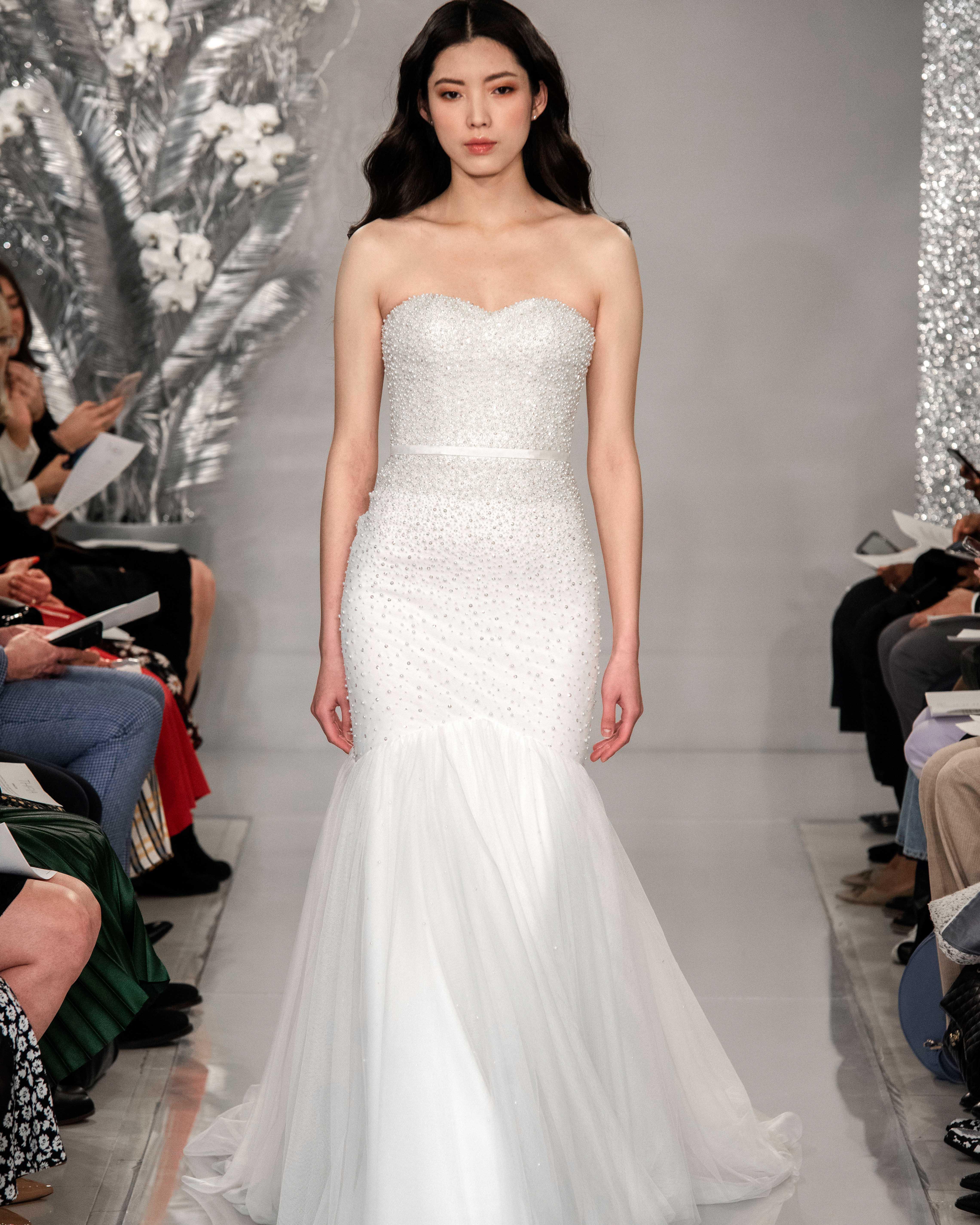 THEIA beaded mermaid wedding dress Spring 2020