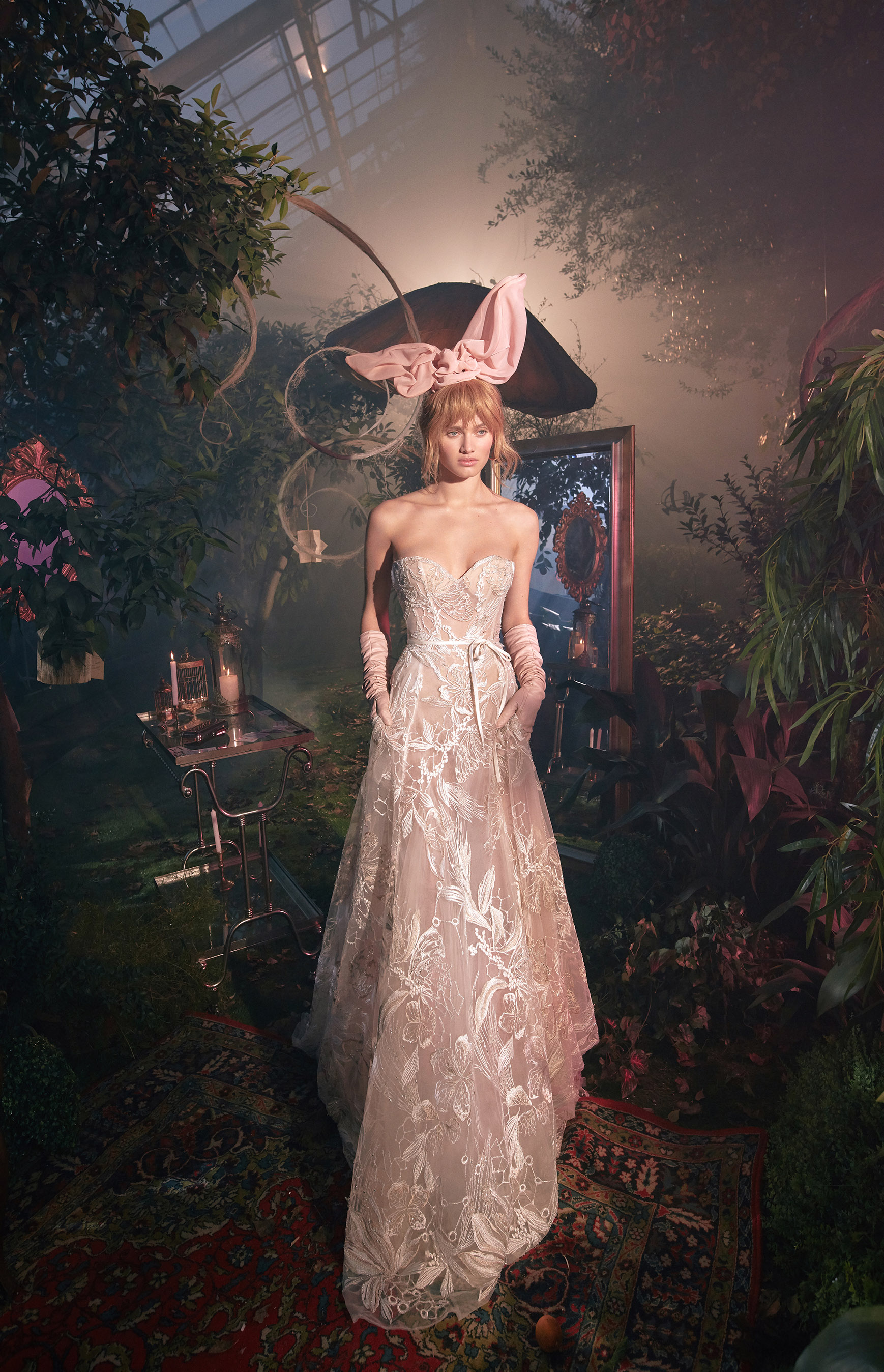 strapless sweetheart exposed boning lace a-line wedding dress Gala by Galia Lahav Spring 2020