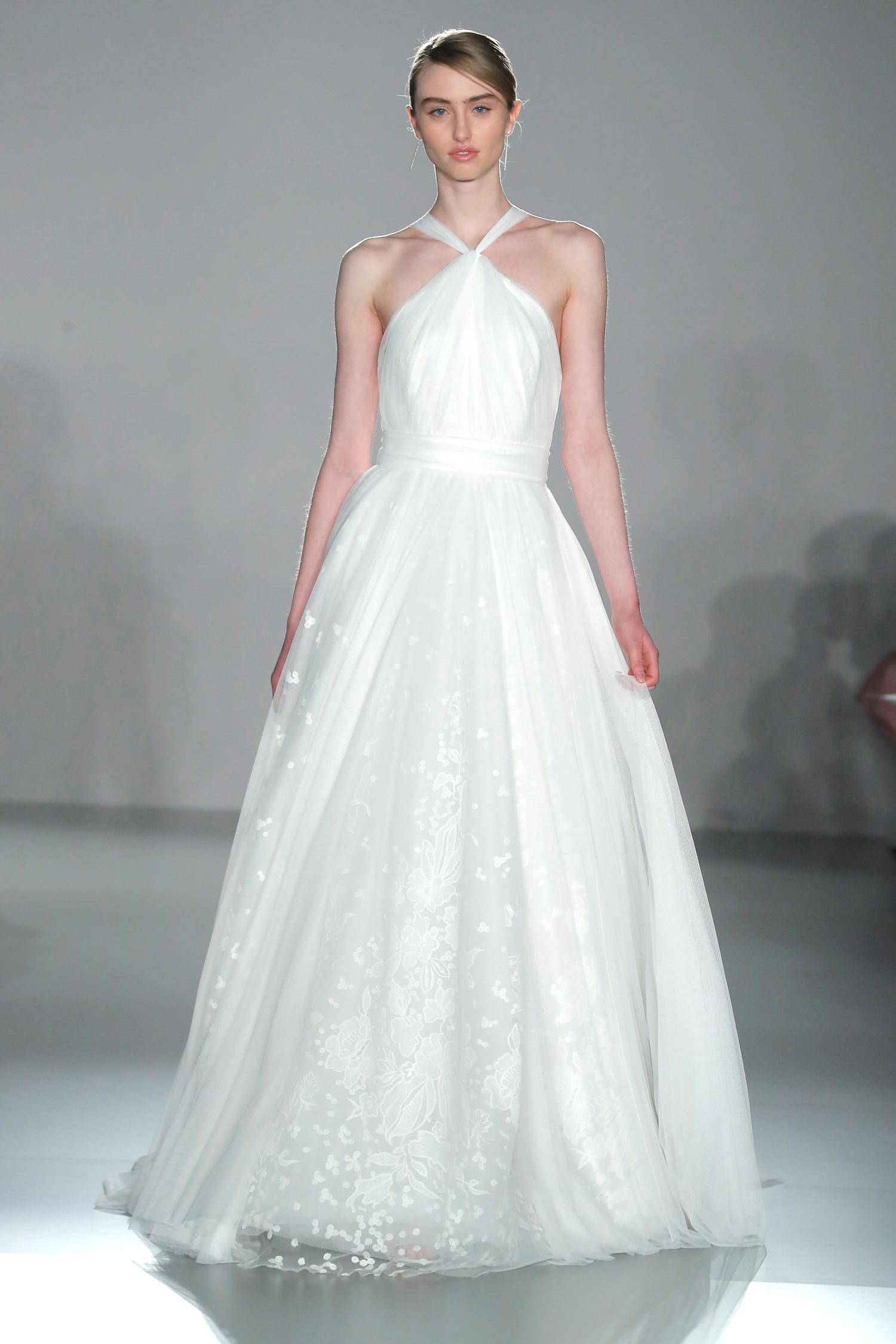 nouvelle amsale halter a-line wedding dress spring 2020