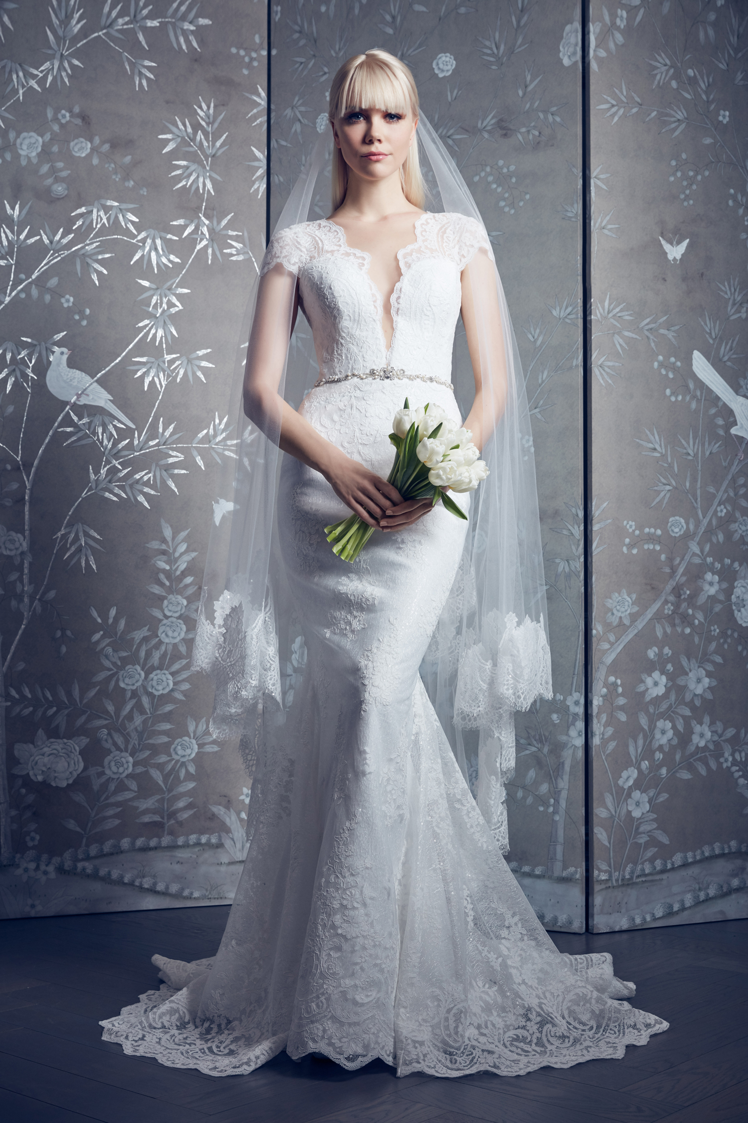 legends romona keveza lace cap sleeves mermaid wedding dress spring 2020