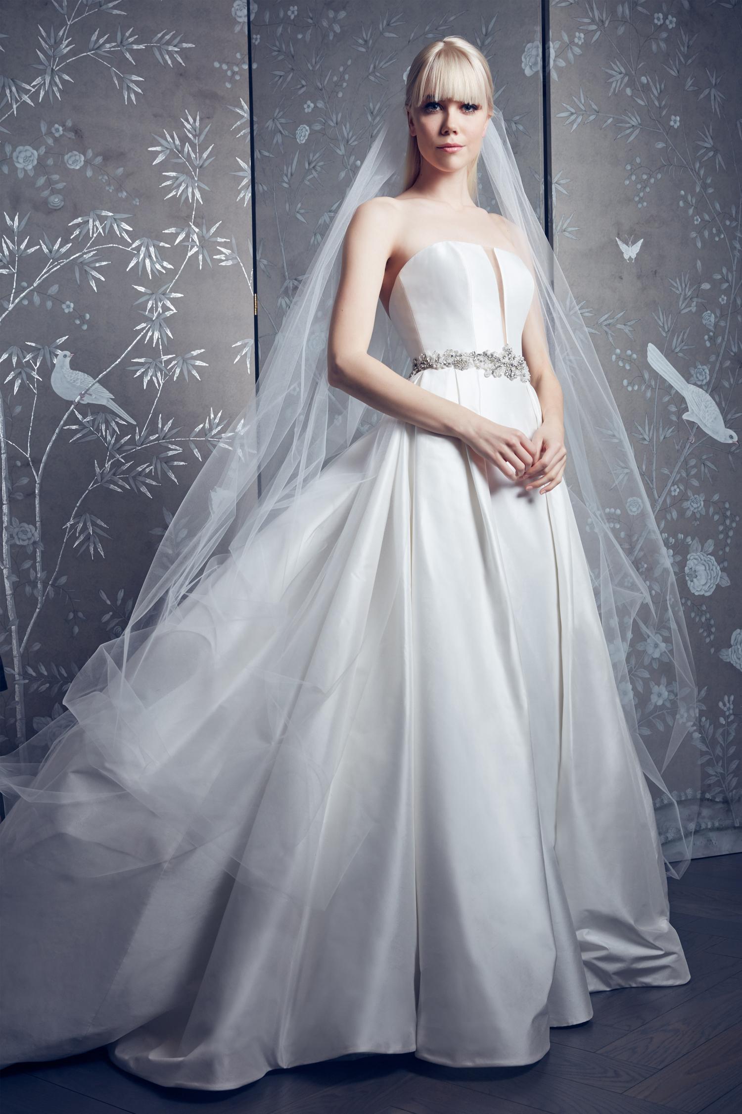 legends romona keveza belted strapless ballgown wedding dress spring 2020