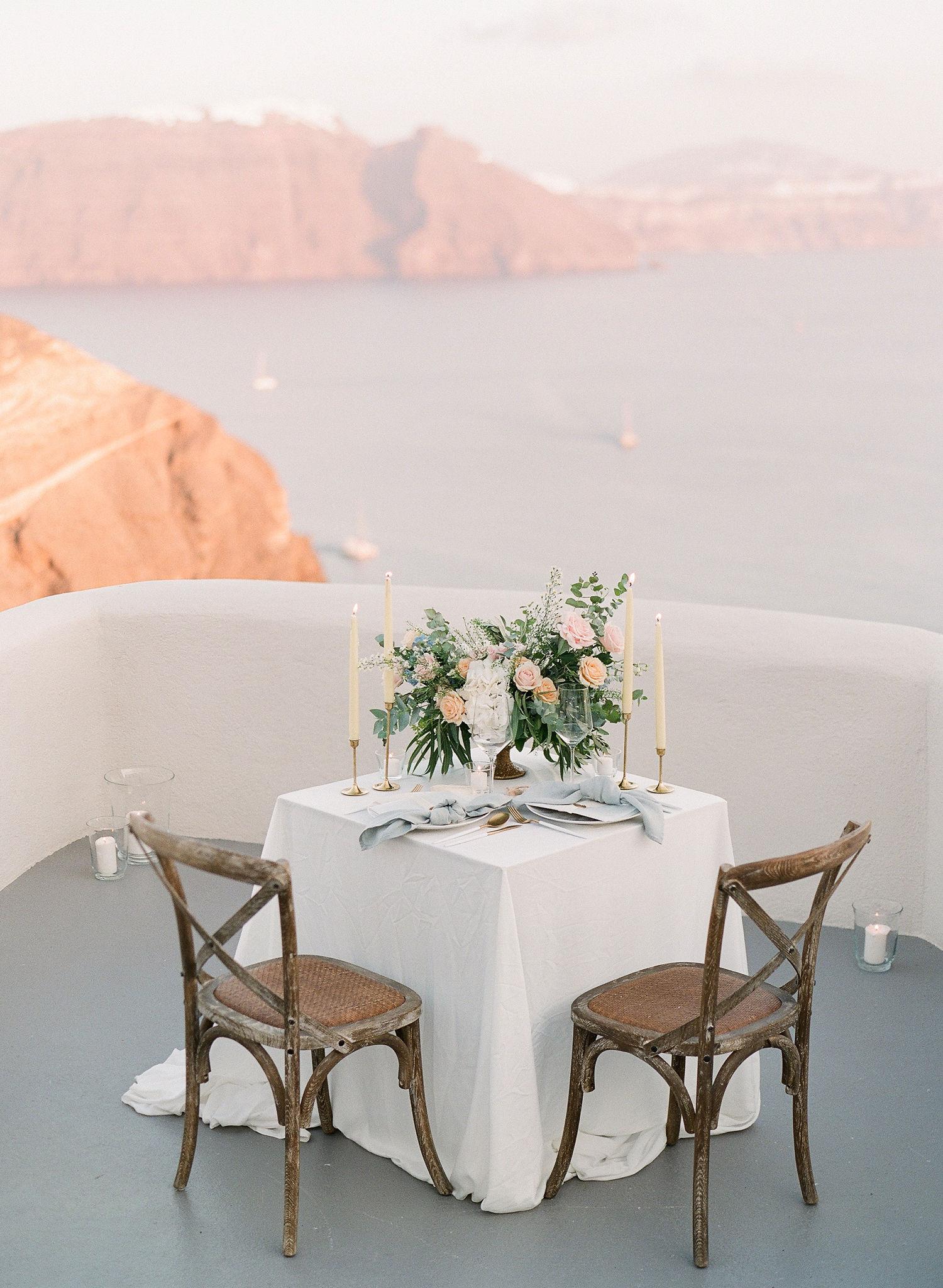 private balcony at Mystique Hotel Santorini