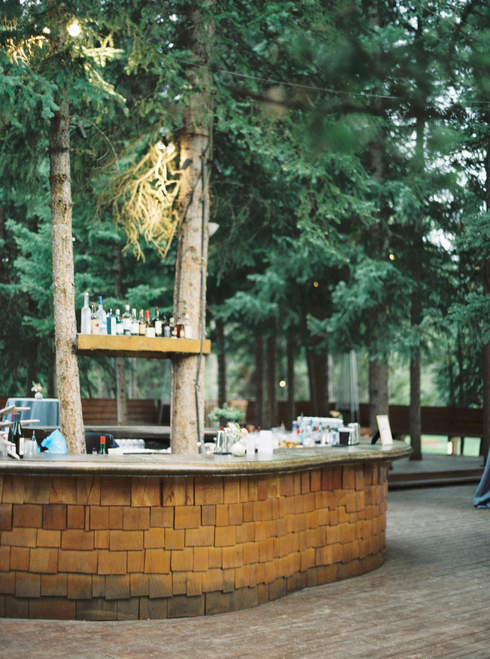 Yellowstone Club outdoor wedding bar