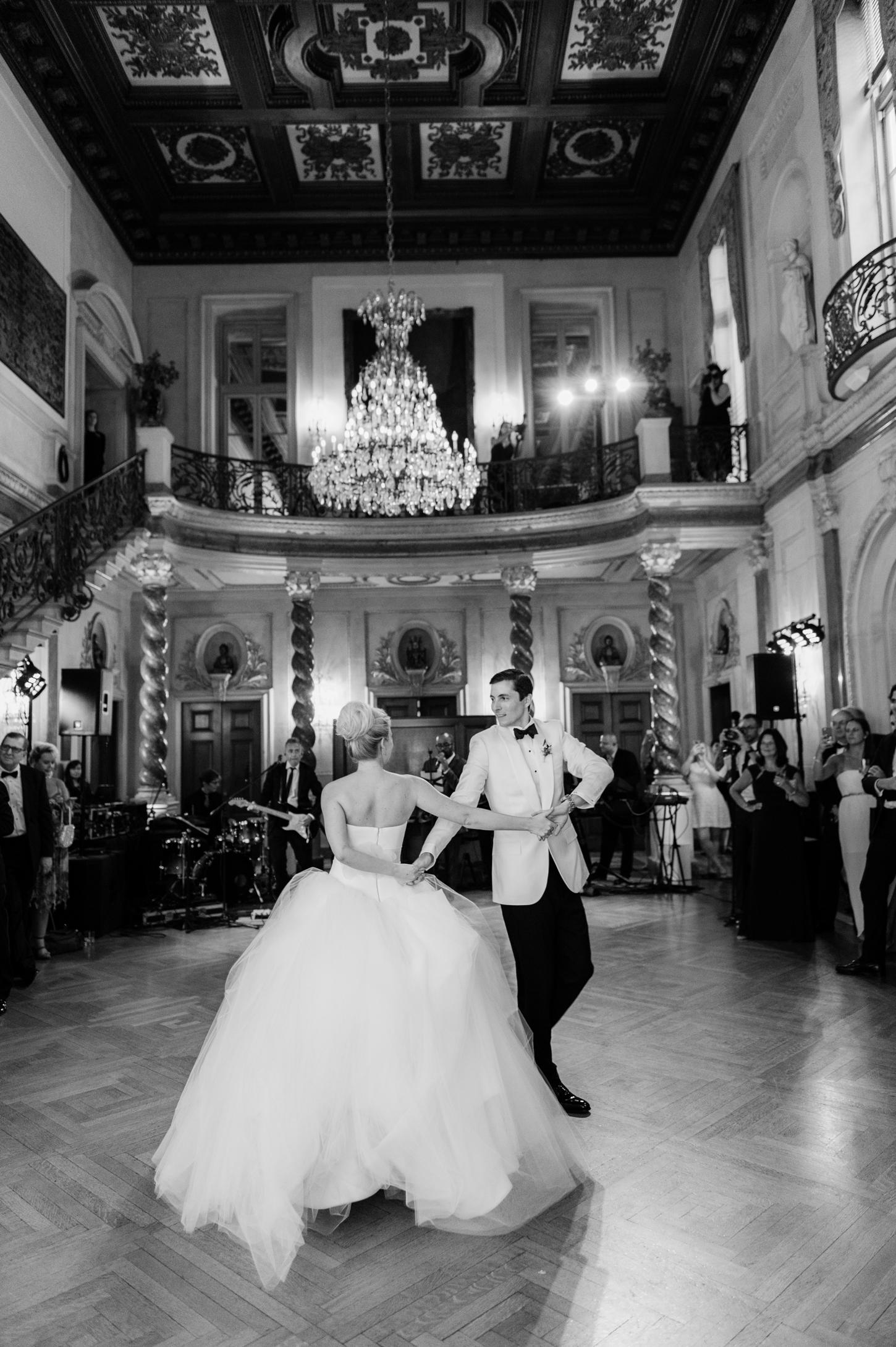 bride and groom first dance wedding reception venue