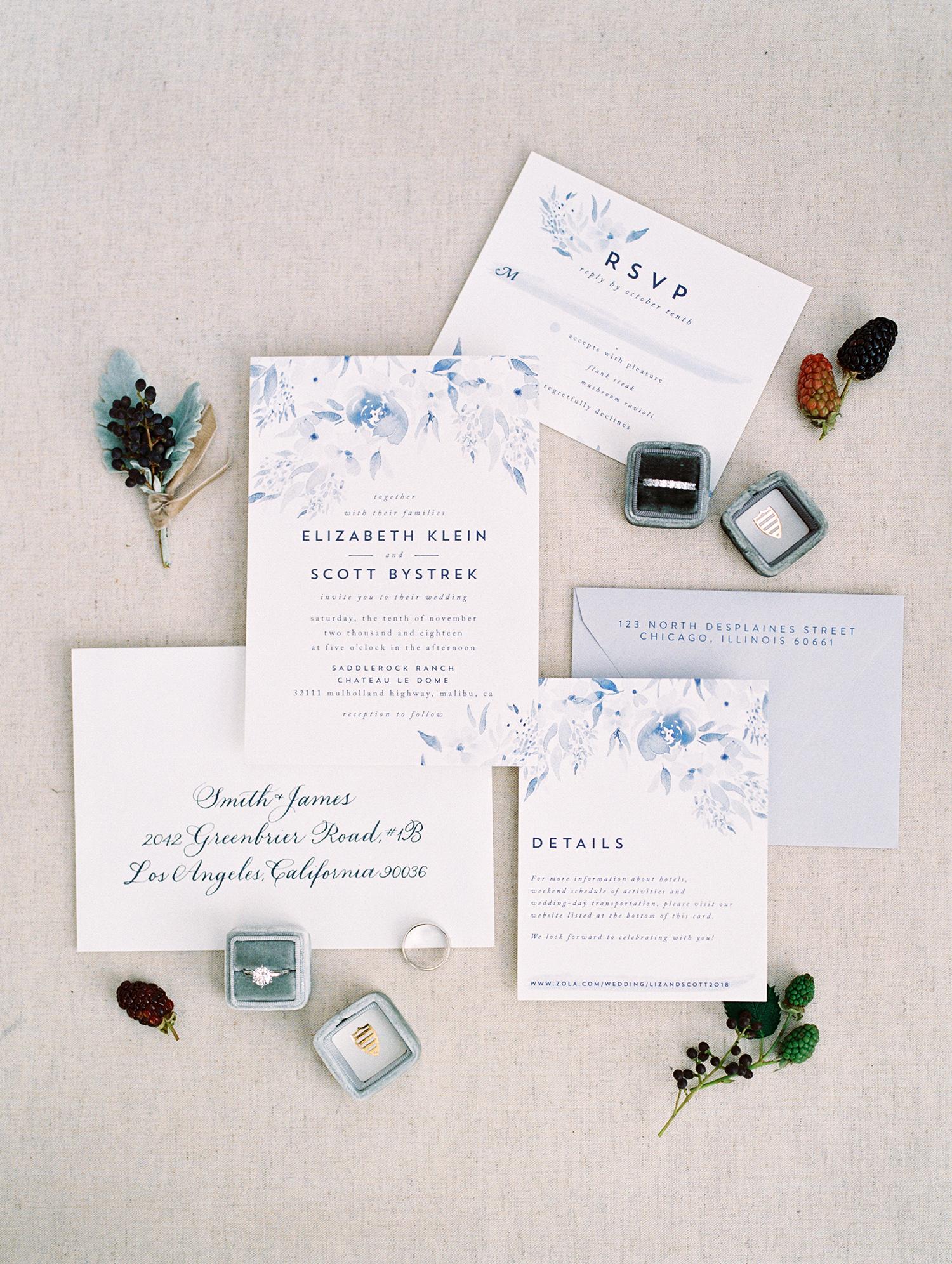 elizabeth scott wedding invites