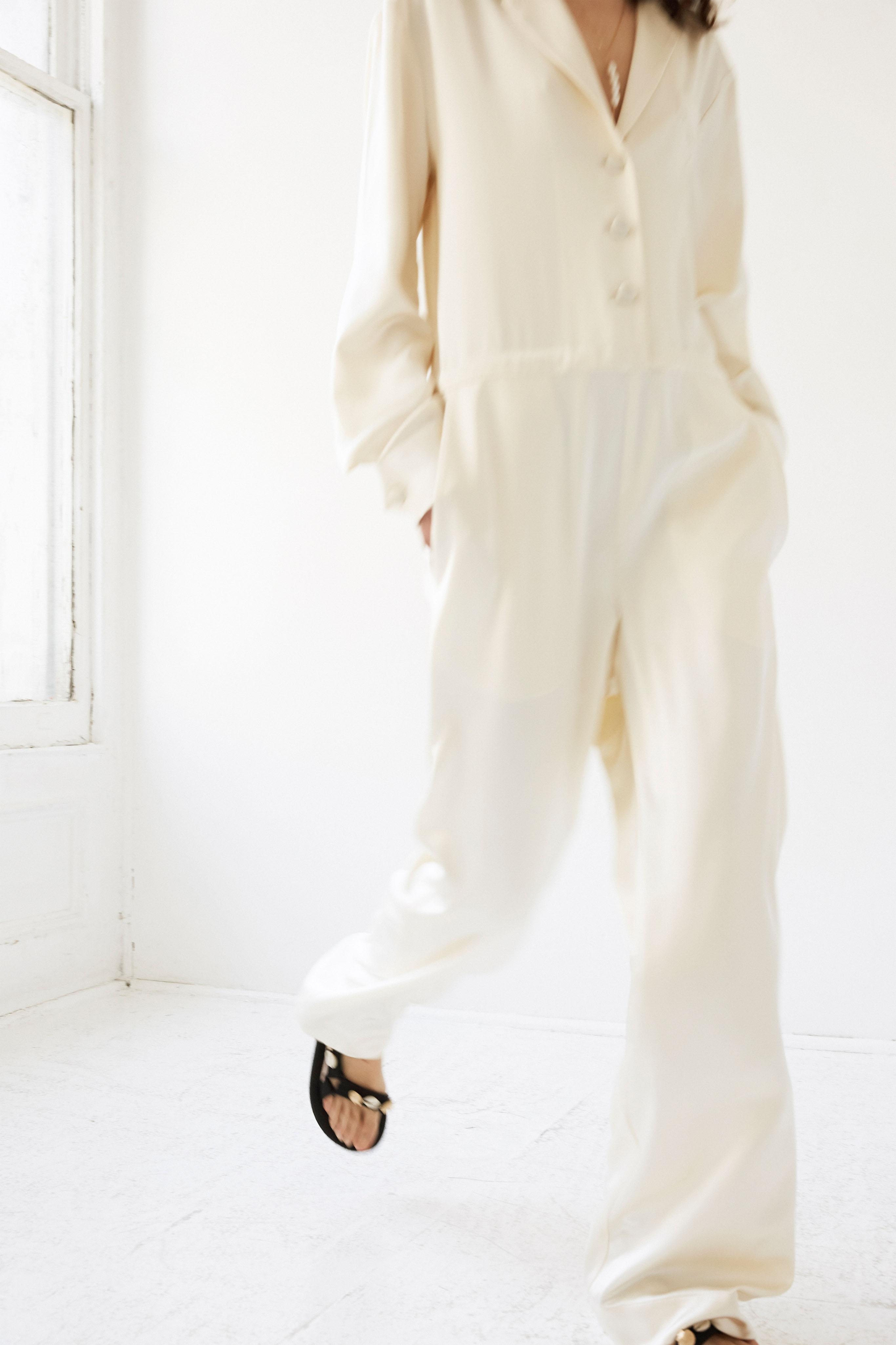 lein wedding dress spring 2020 long sleeve buttoned jumpsuit