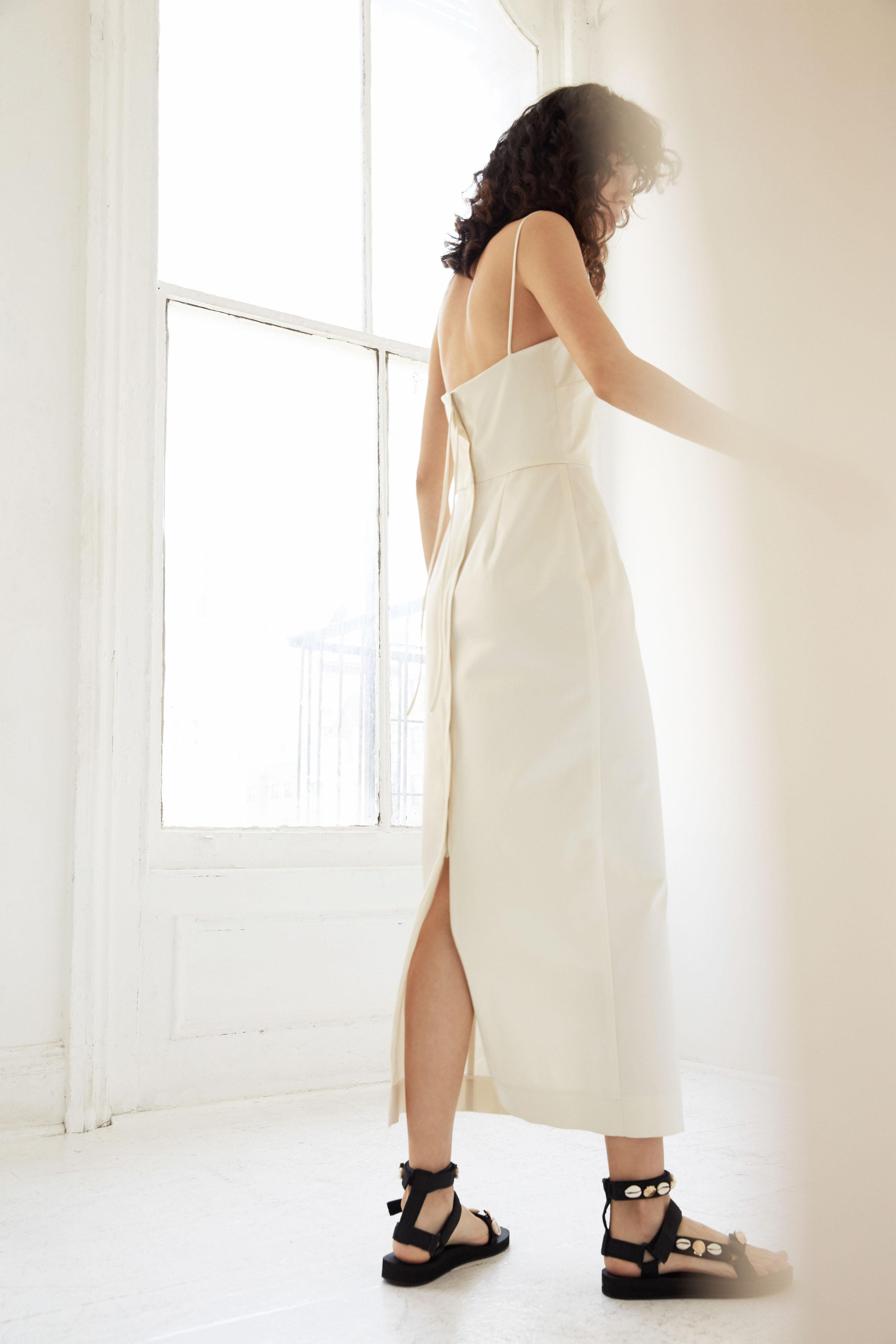 lein wedding dress spring 2020 sheath spaghetti strap