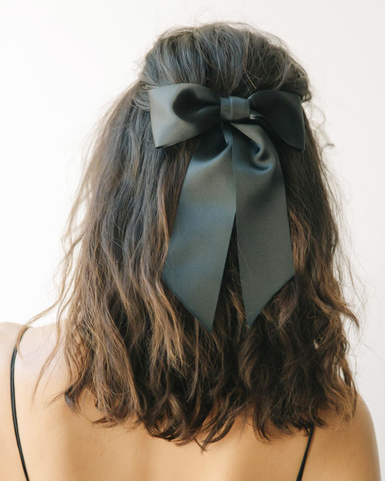 Black Bow Barrette