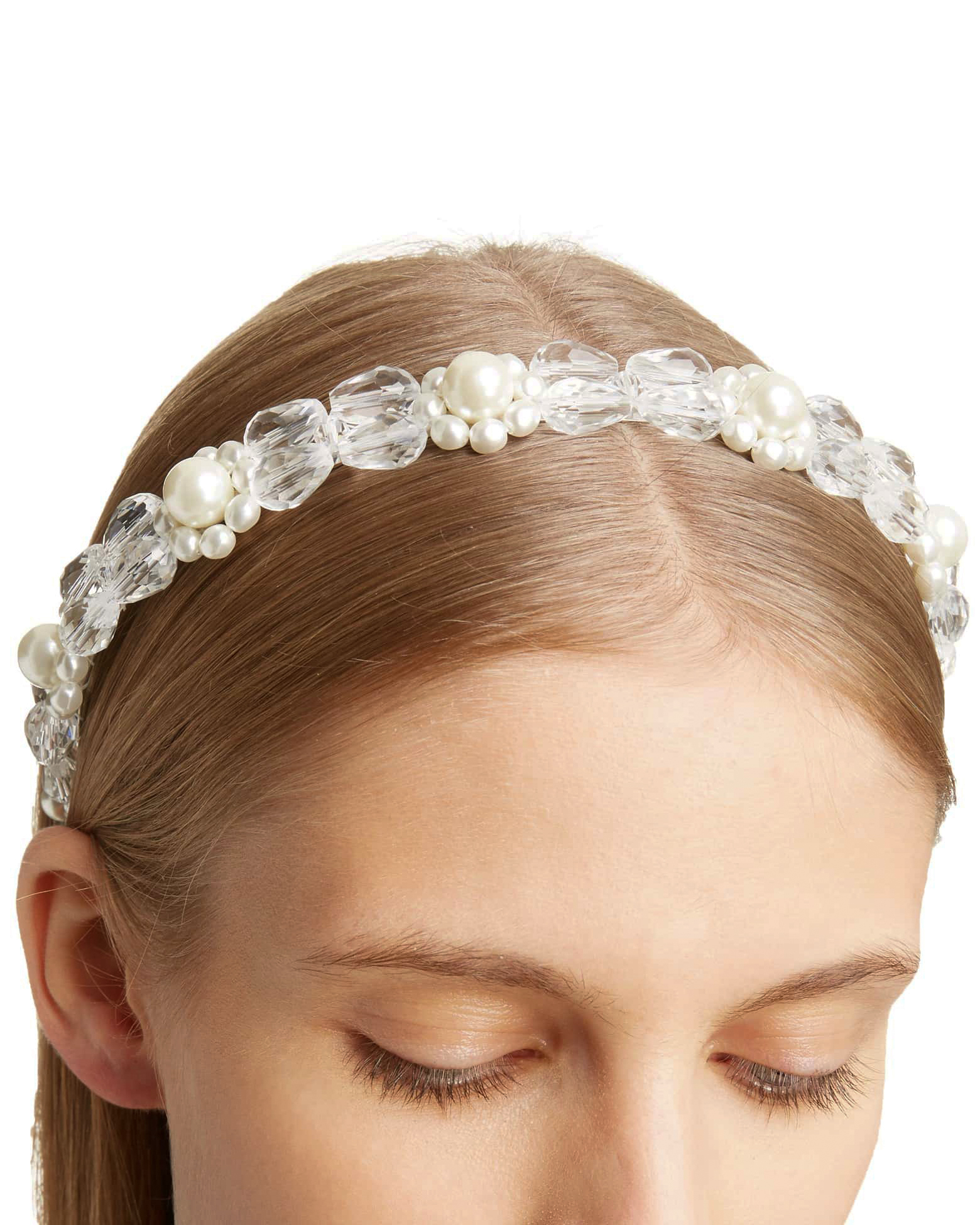 Imitation Pearl and Crystal Headband