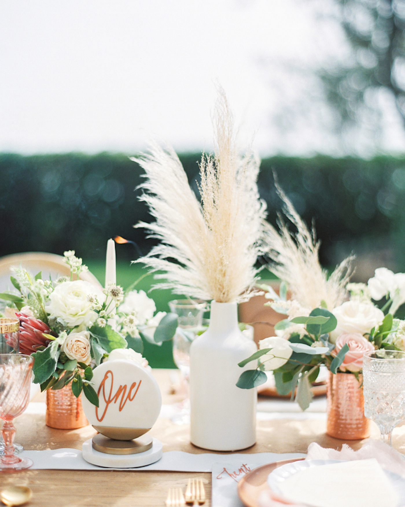 pampas grass ideas on the table centerpiece