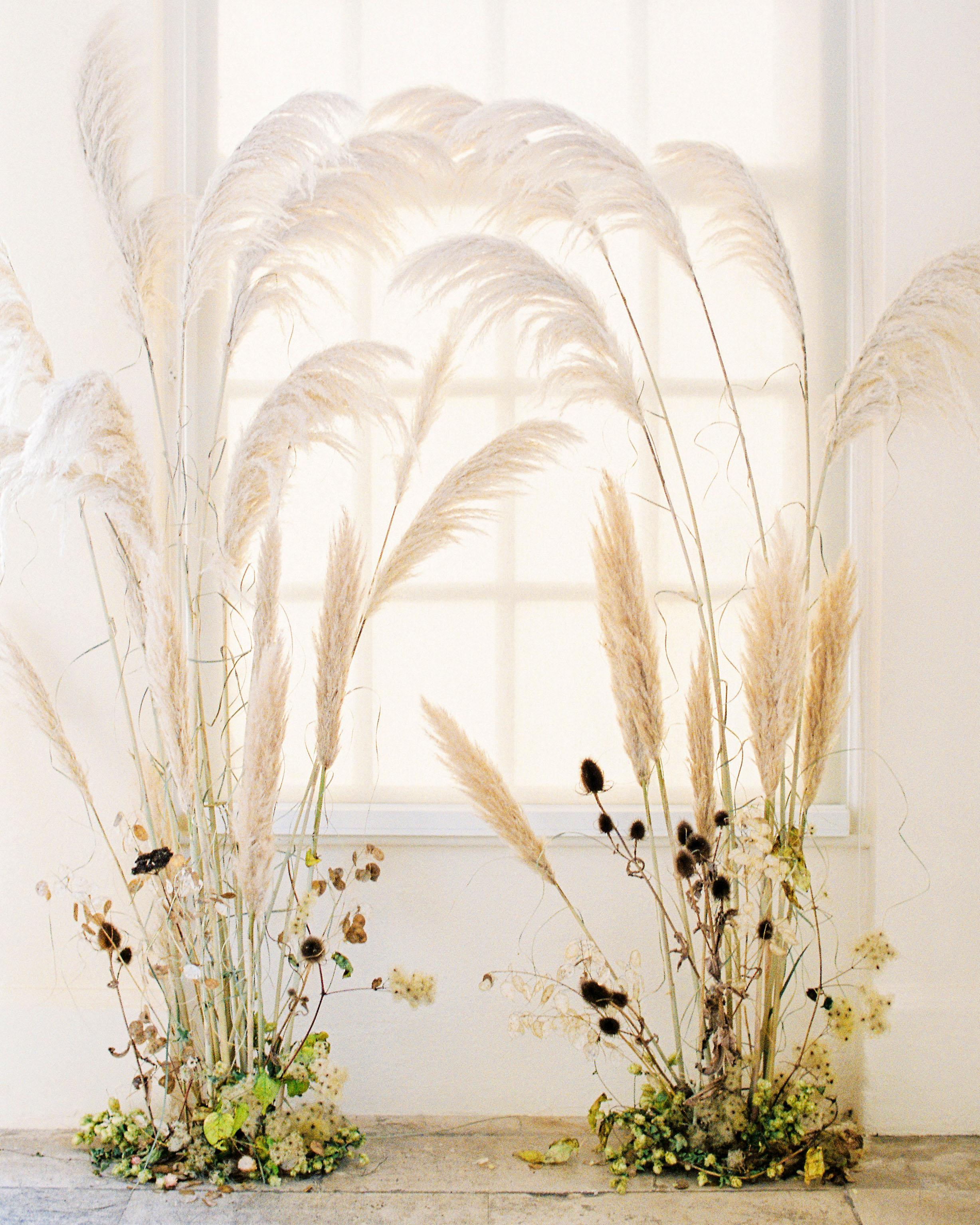 pampas grass ideas window frame accents