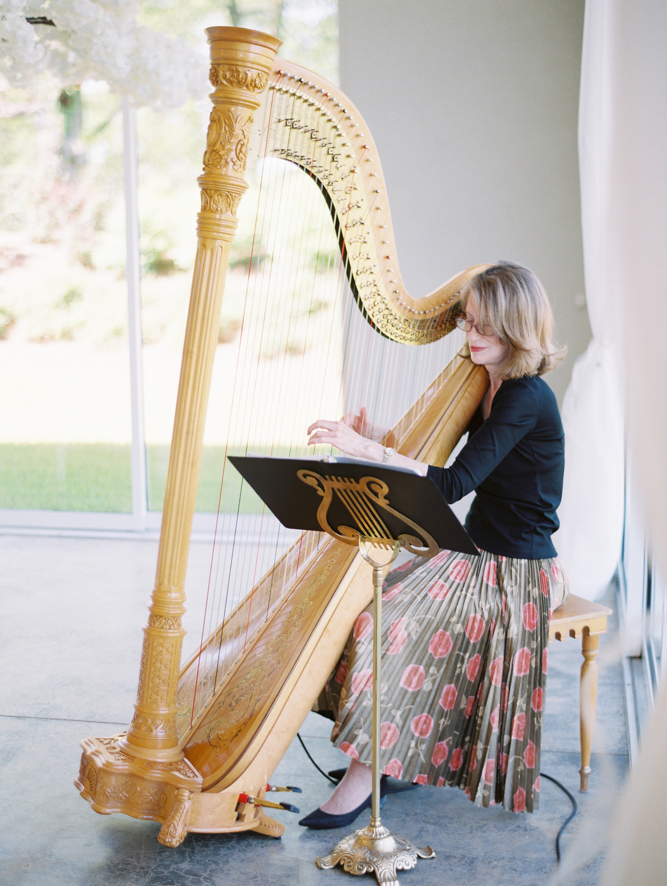 niara allen wedding harpist