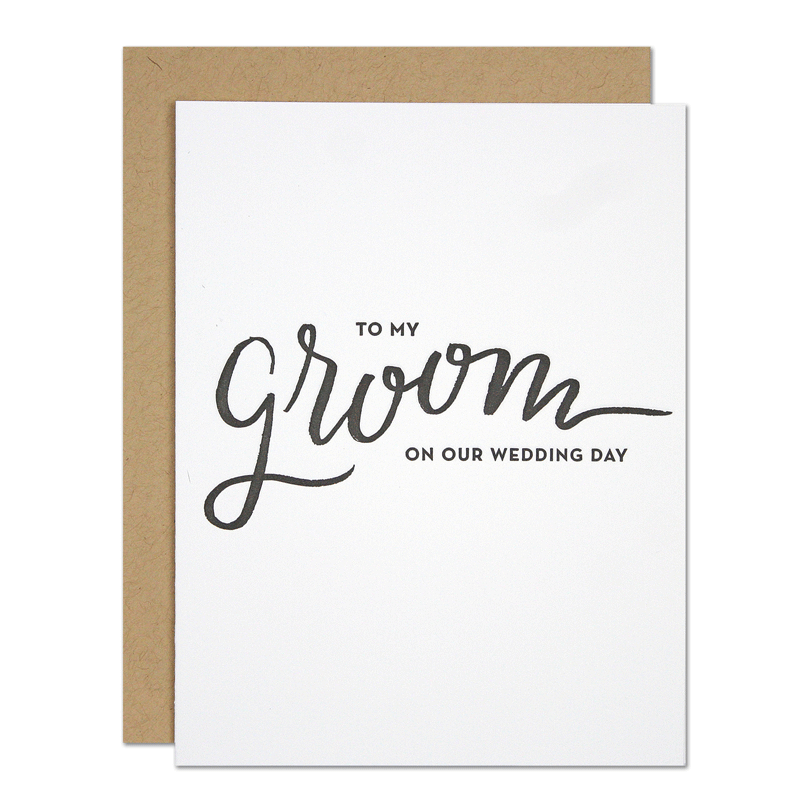 """My Groom"" Greeting Card"
