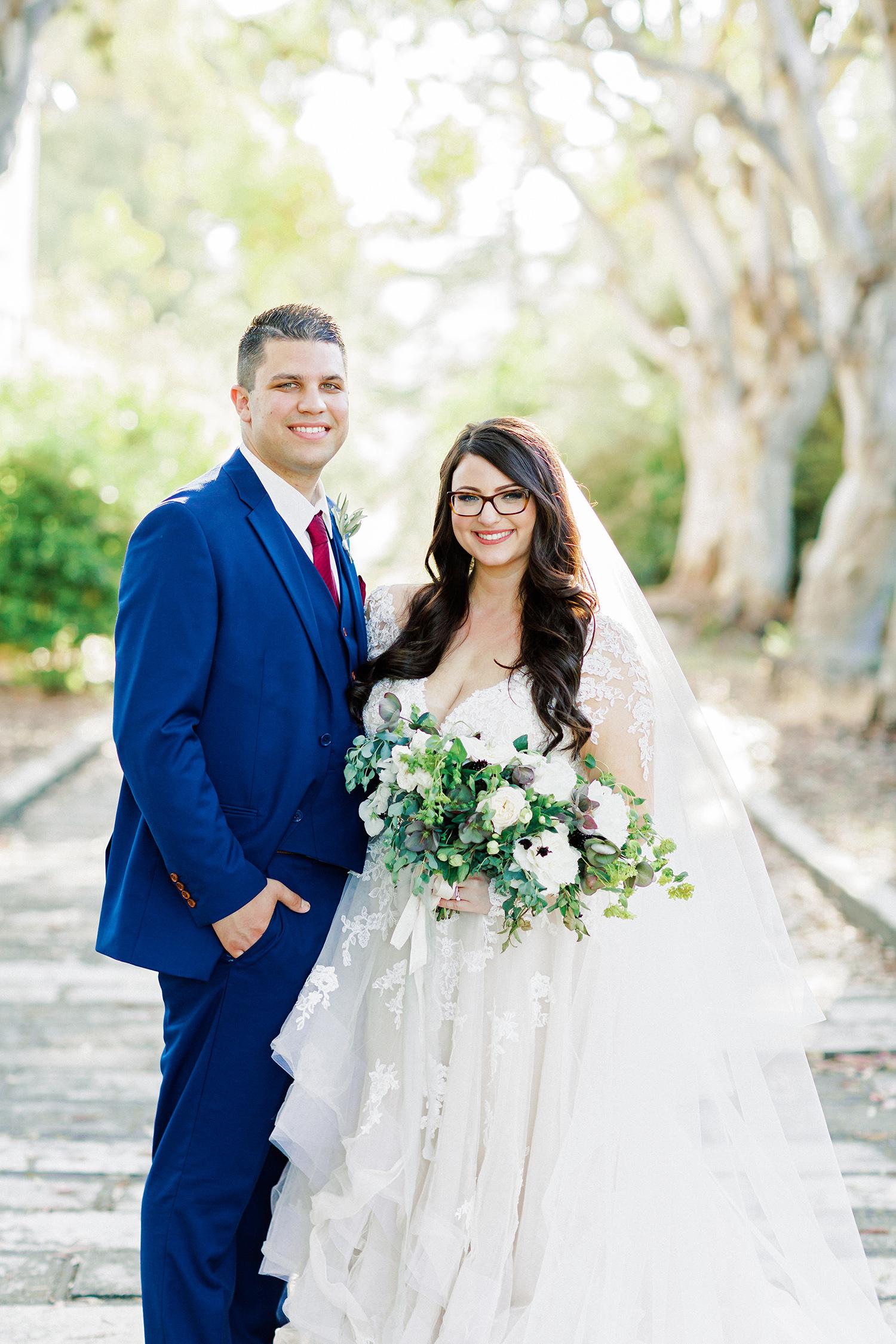 erika evan wedding couple