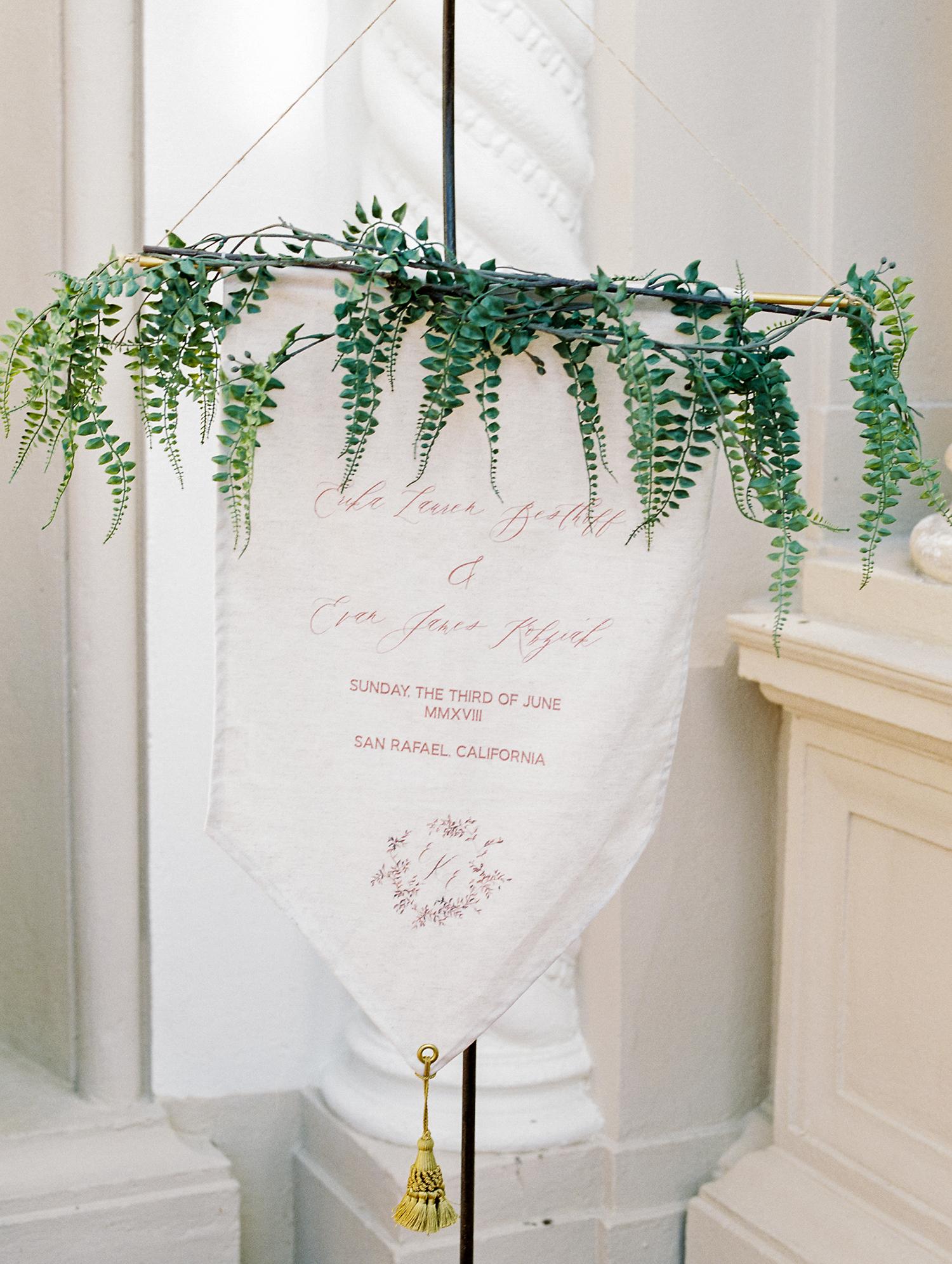 erika evan wedding welcome sign