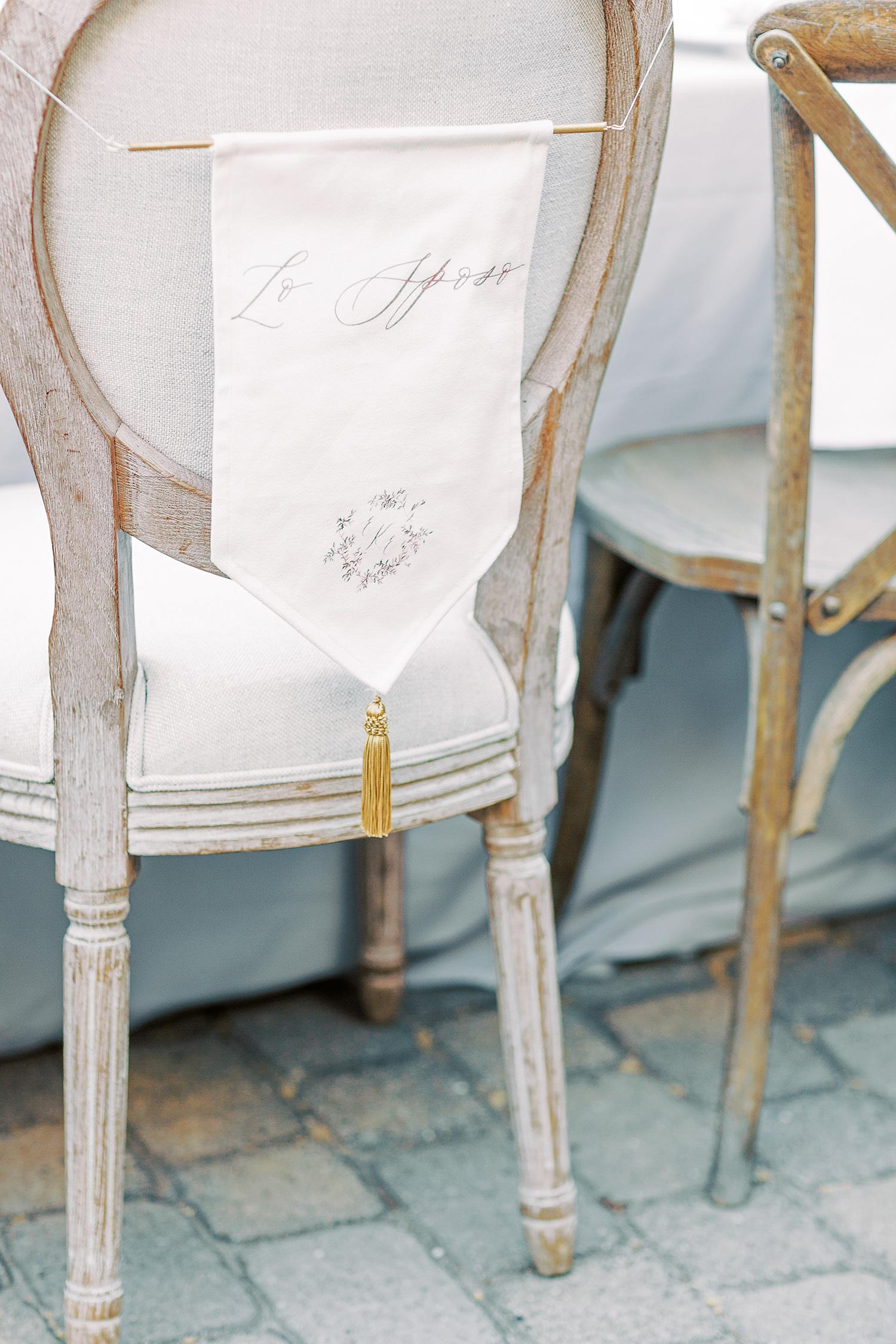 erika evan wedding bride and groom seats