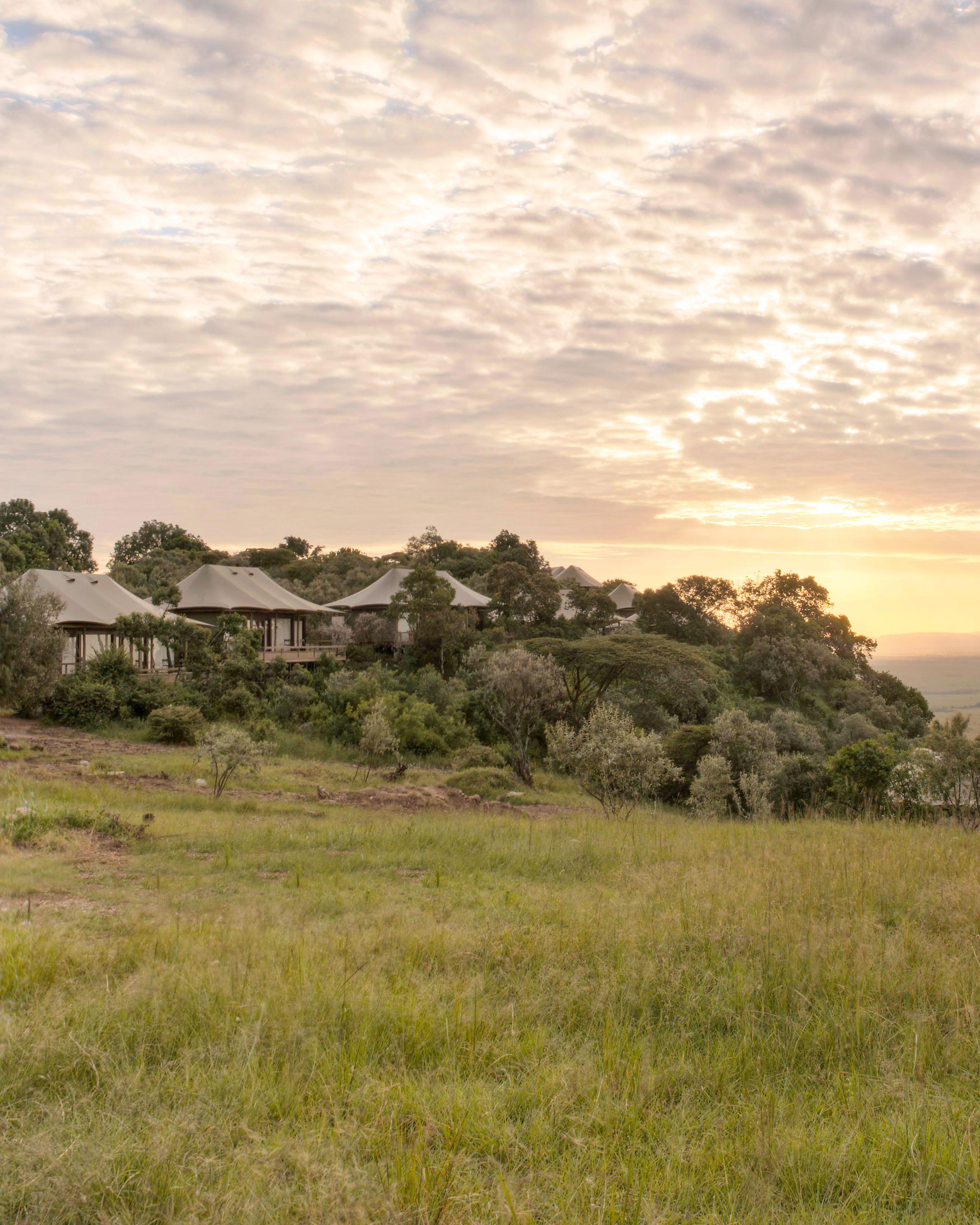 africa trip sunset view village