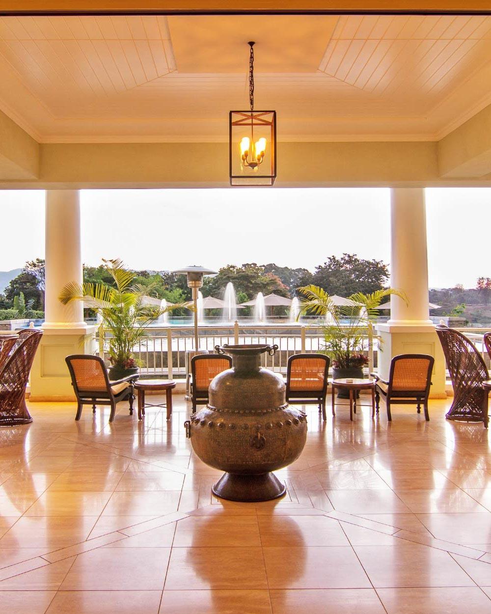 africa trip resort out door sitting area