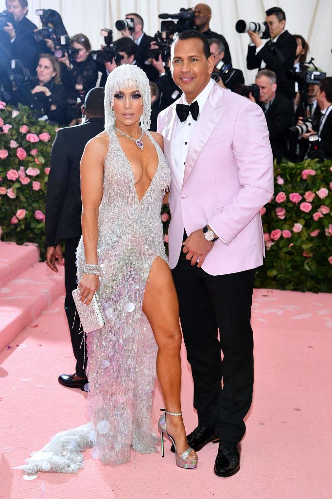 Jennifer Lopez and Alex Rodriguez 2019 Met Gala