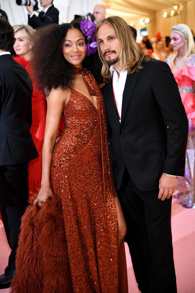 Zoe Saldana and Marco Perego 2019 Met Gala