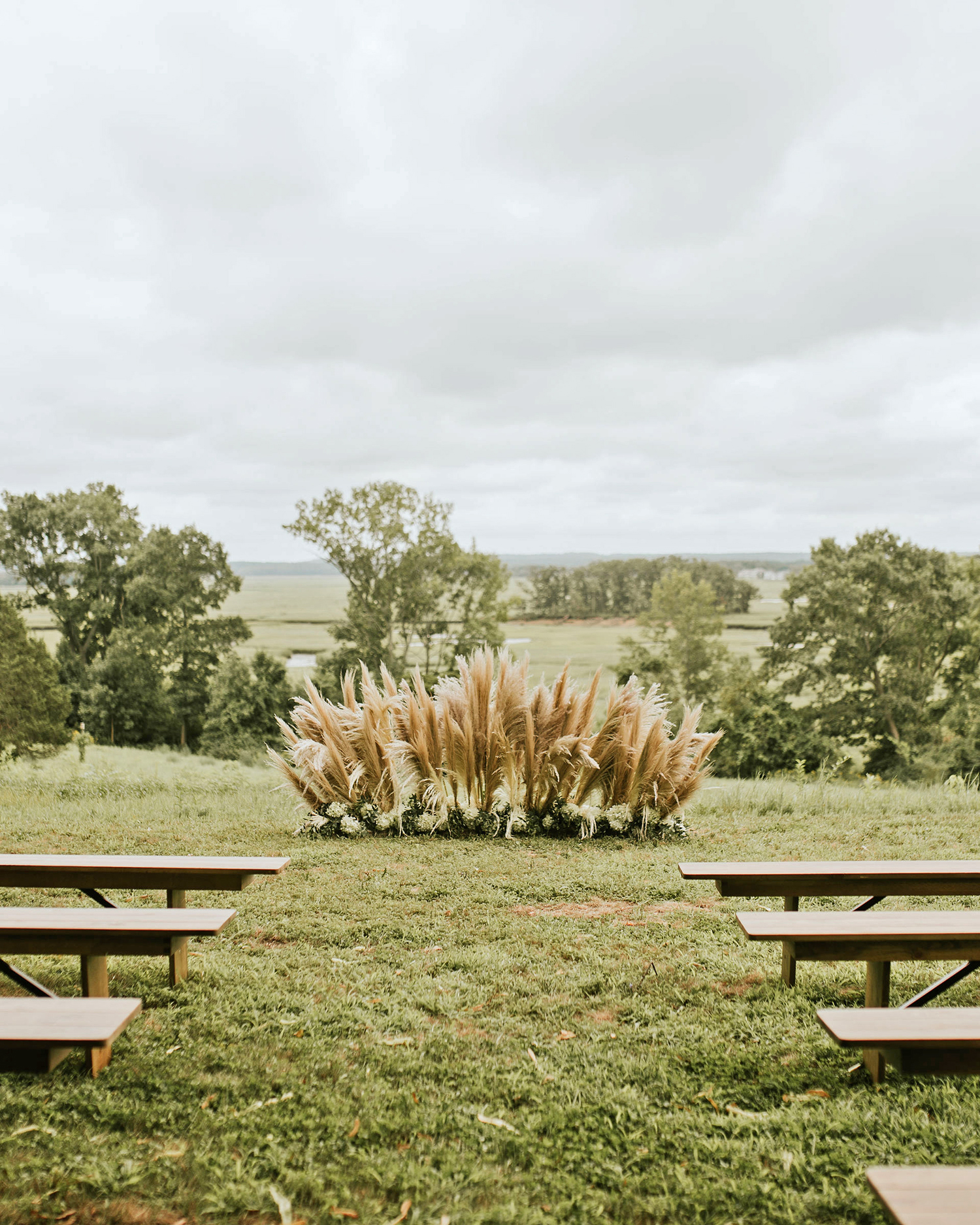 ferbie rob boho wedding outdoor ceremony location