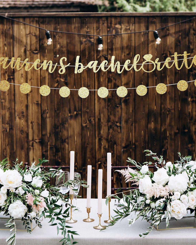 bachelorette party supplies gold bachelorette banner